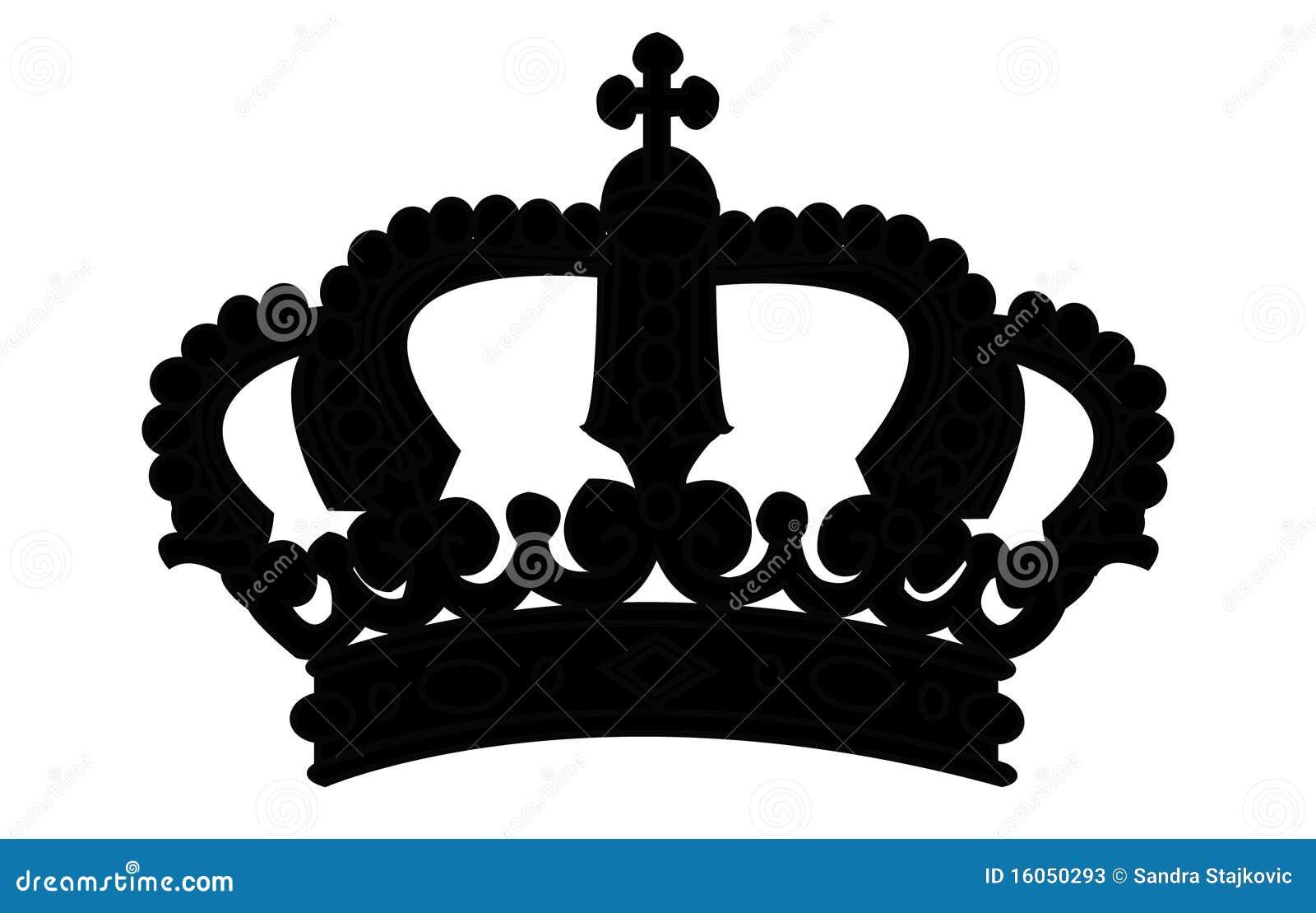 Crown Silhouette On White Stock Photos - Image: 16050293