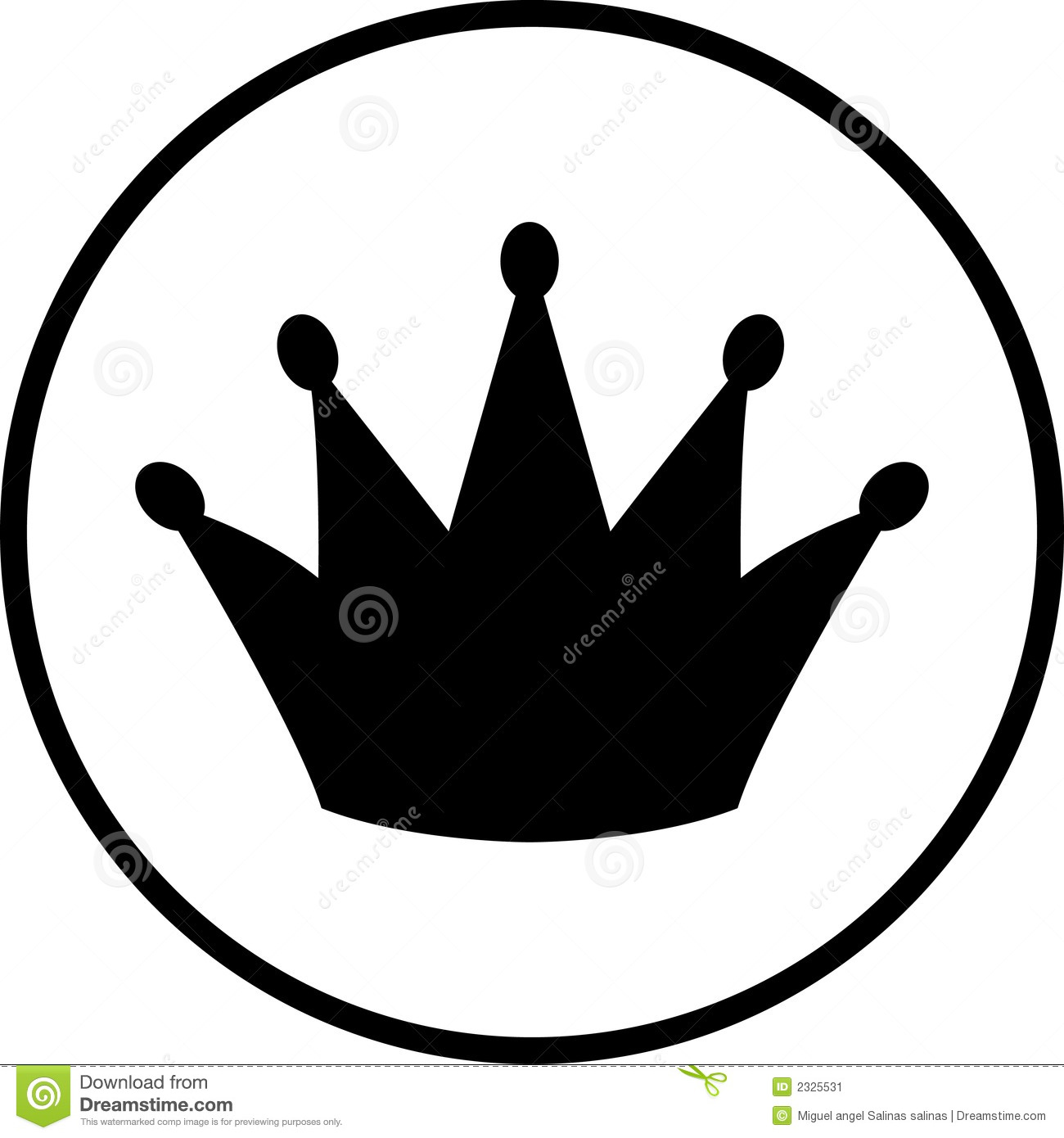 Crown Symbol Stock Vector Illustration Of Important Queen 2325531