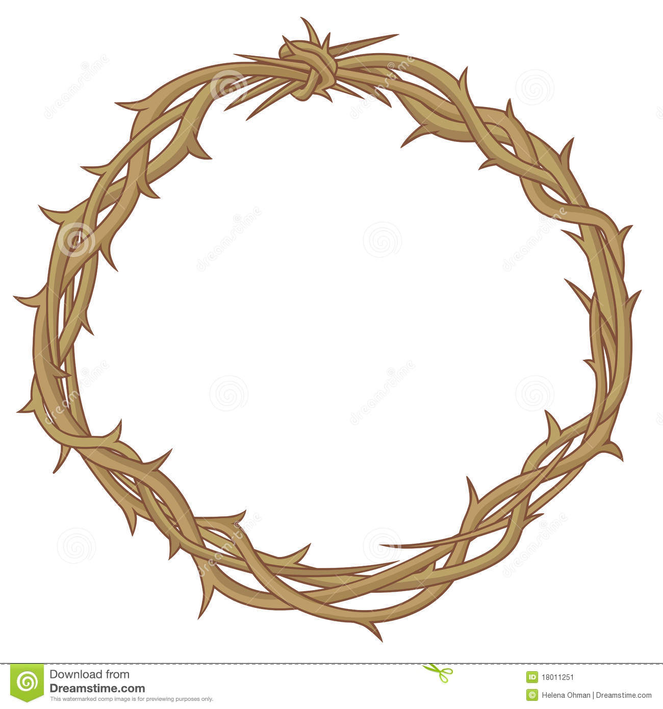 crown of thorns stock vector illustration of colored Crown of Thorns Clip Art Crown of Thorns Silhouette