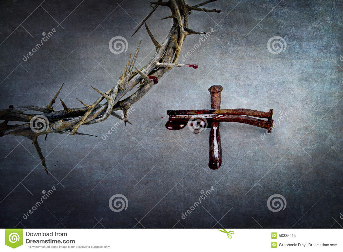 Download Crown Of Thorns And Cross Of Nails Stock Image - Image of dramatic, christ: 50335015