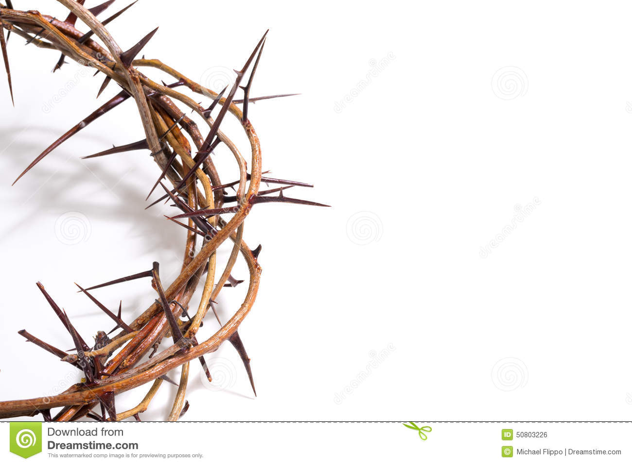 Crown Of Thorns On A White Background - Easter. Religion. Stock ...