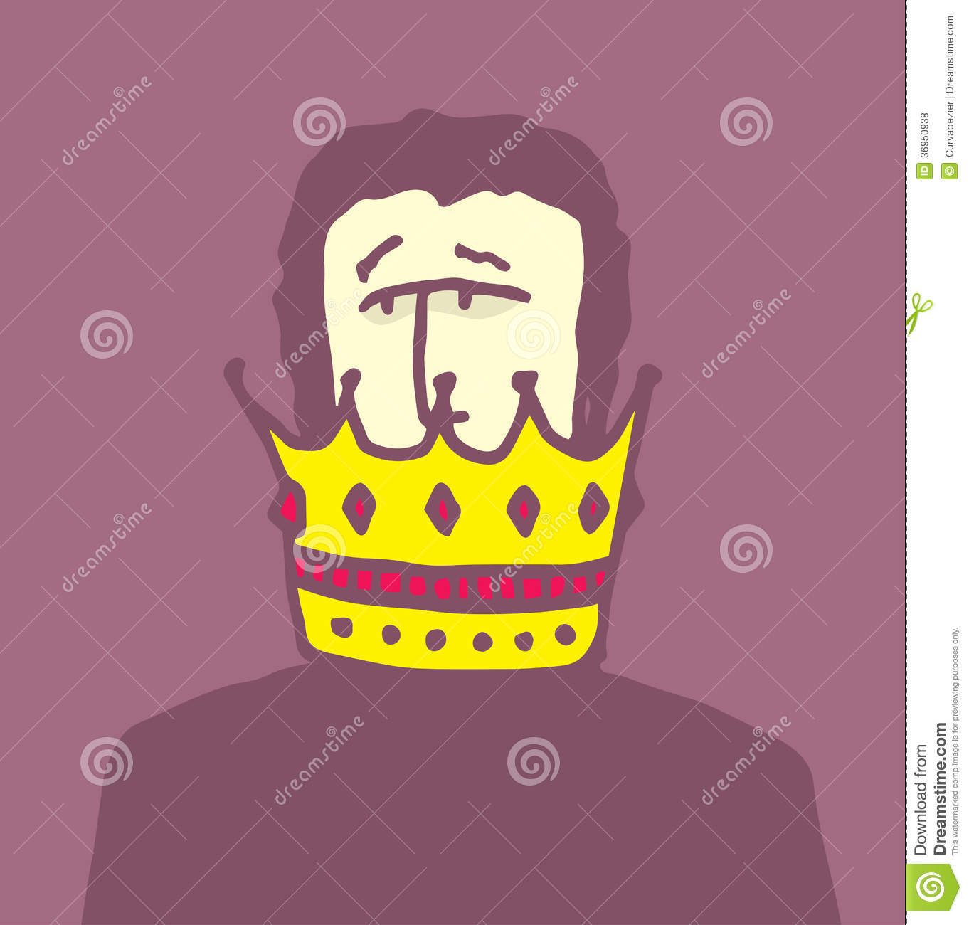 Crown Too Big For Small Head Stock Illustration Illustration Of Cartoon Head 36950938 Crown on my head like a god  animation  yuki takashi (very shooort,not very good too). dreamstime com