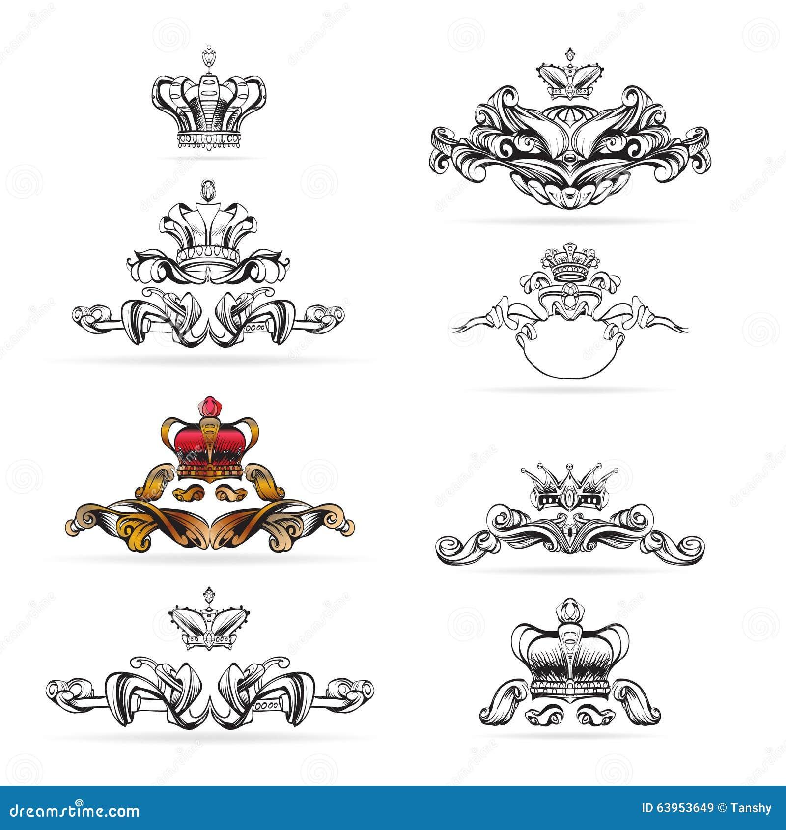 decorative elements in vintage style vector illustration 70046618. Black Bedroom Furniture Sets. Home Design Ideas