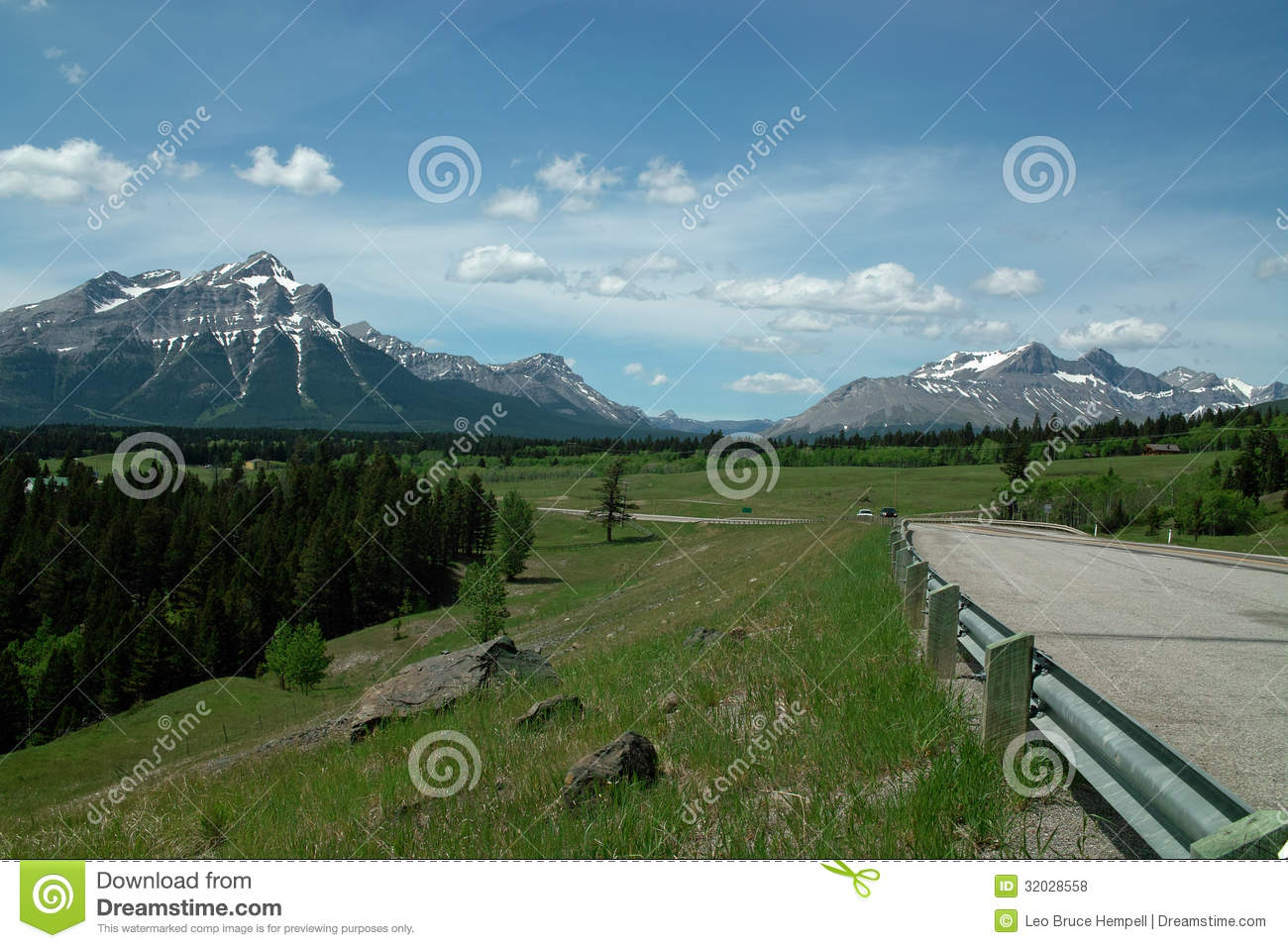 Crowsnest Highway, Alberta Canada. Royalty Free Stock ...