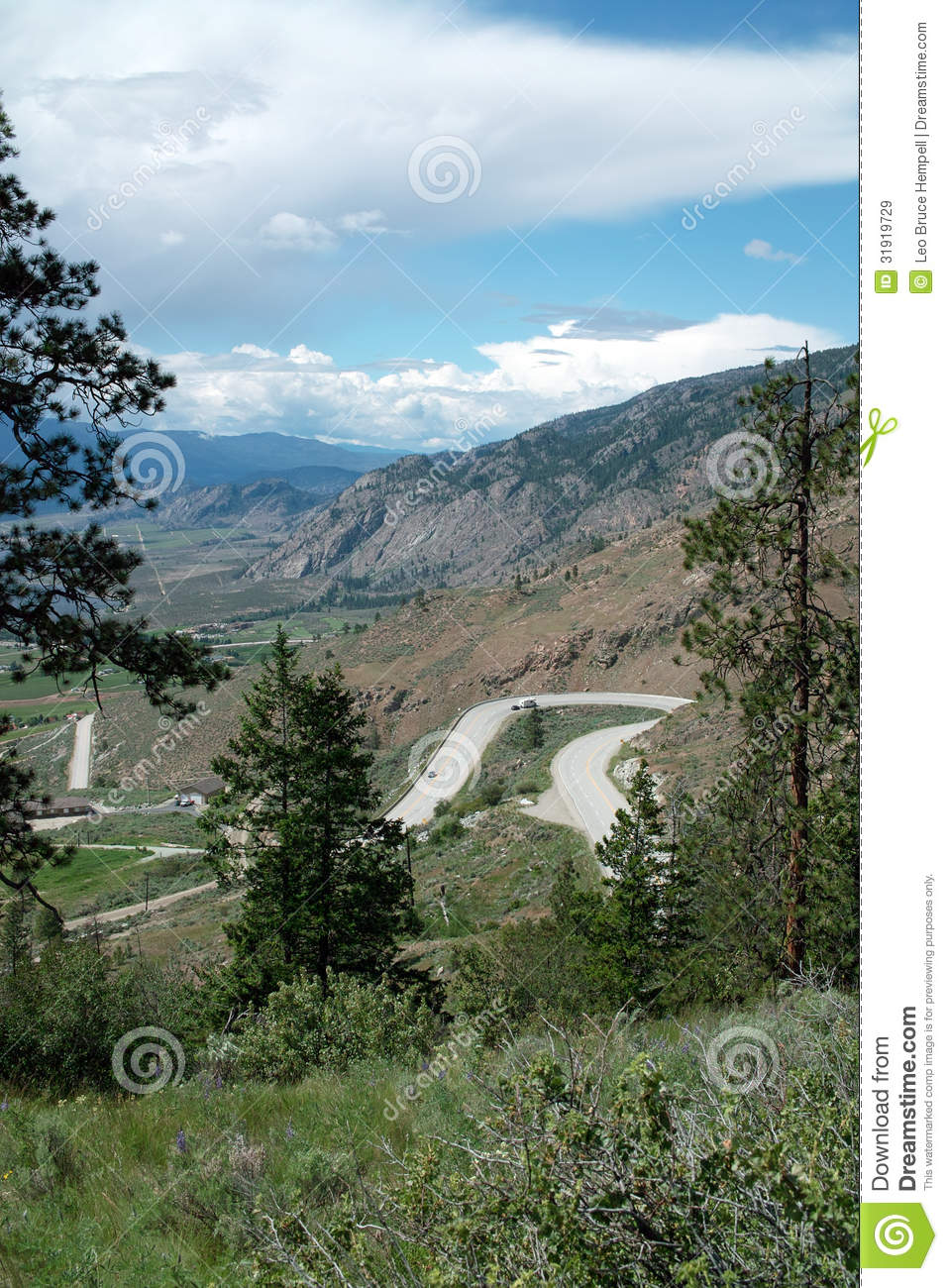 Crowsnest Highway # 3, Osoyoos, BC Canada Stock Image ...