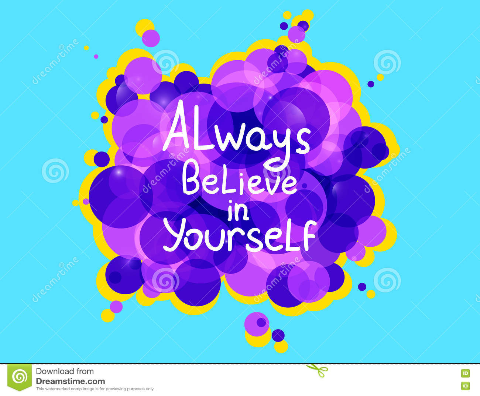 Croyez toujours en vous-même Conception inspirée calligraphique de vecteur