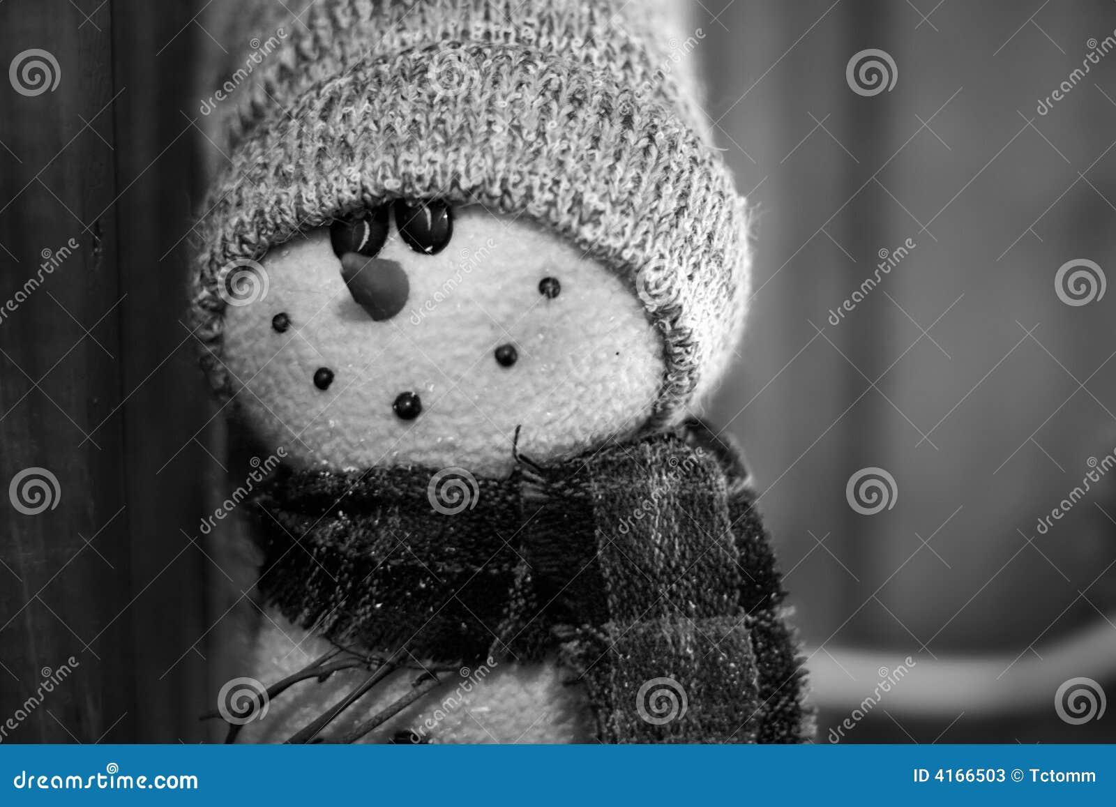 Cru de bonhomme de neige noir et blanc photos stock image 4166503 - Photos noir et blanc vintage ...