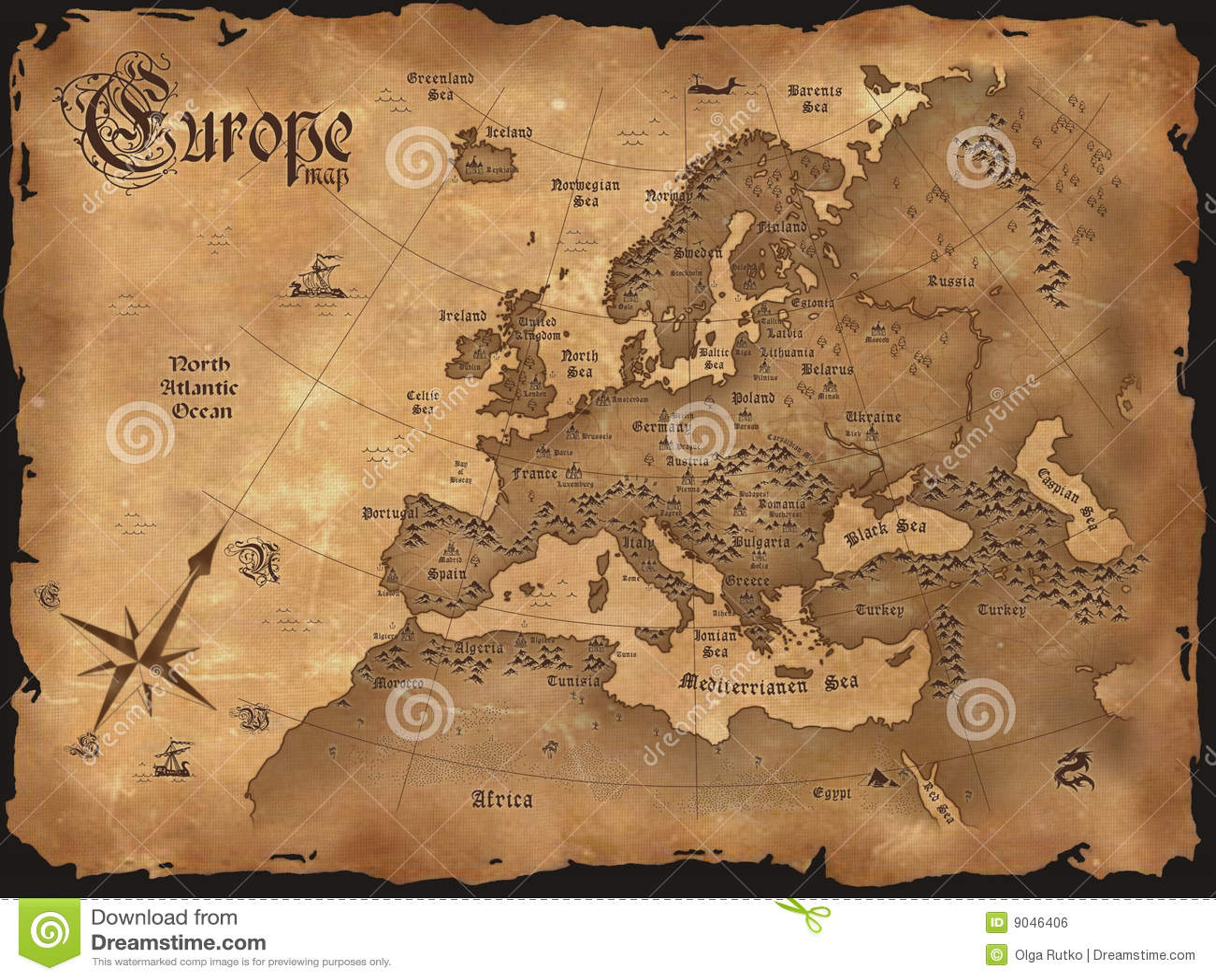 Cru horizontal de carte de l Europe