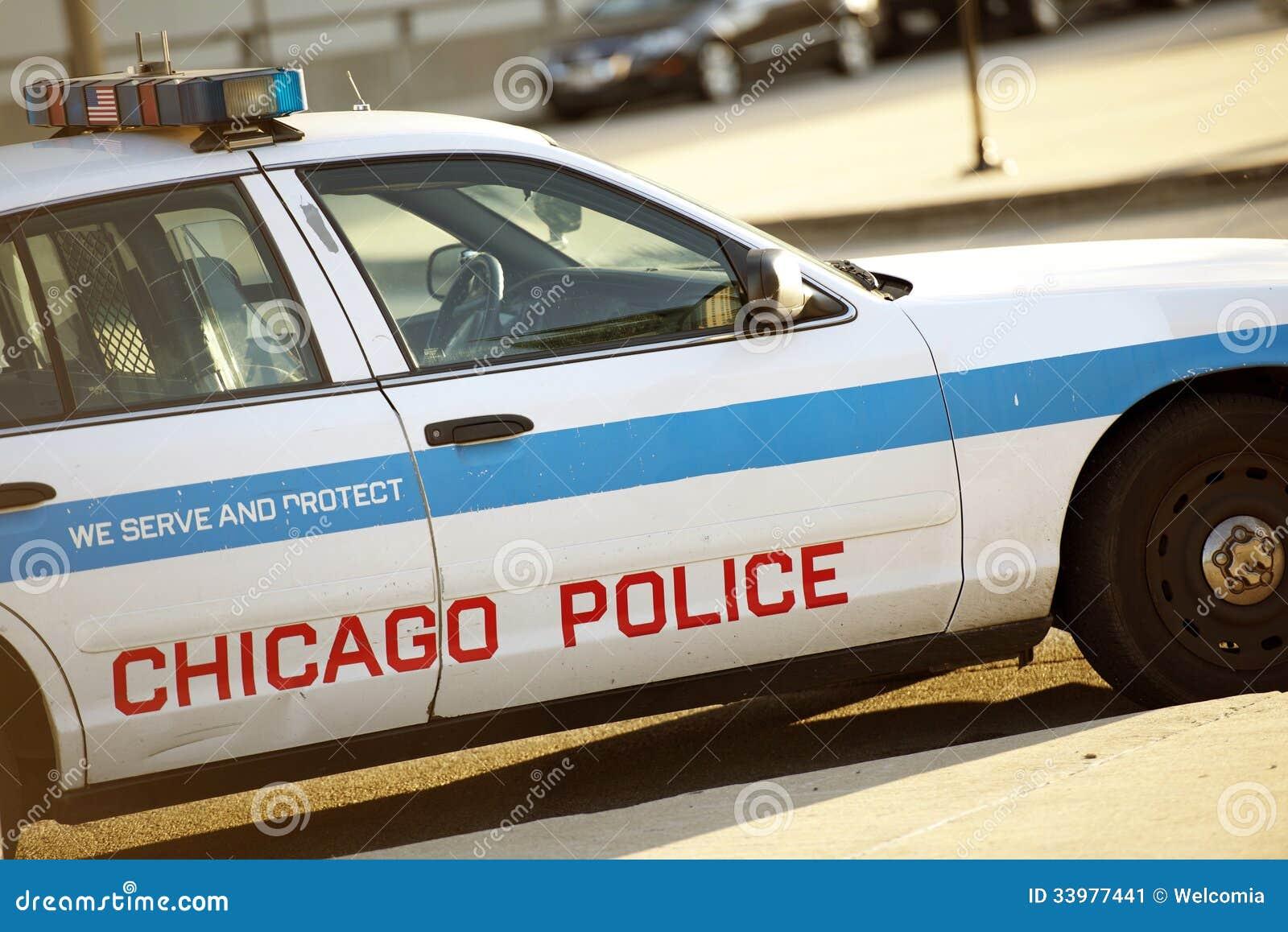 Crucero de la policía en Chicago