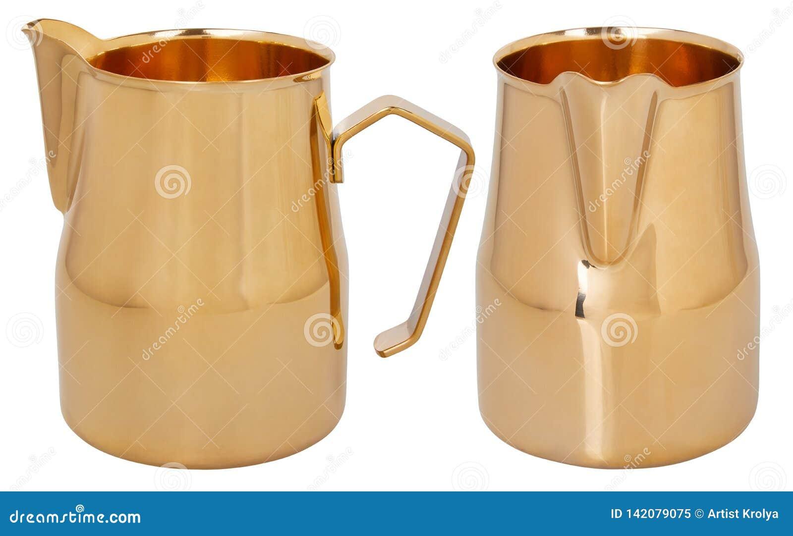 Cruche écumante d or Broc/cruches de lait d acier inoxydable