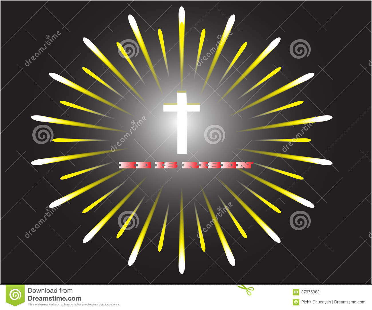 The Crucifix Of Victory Stock Vector Illustration Of Hope 87975383