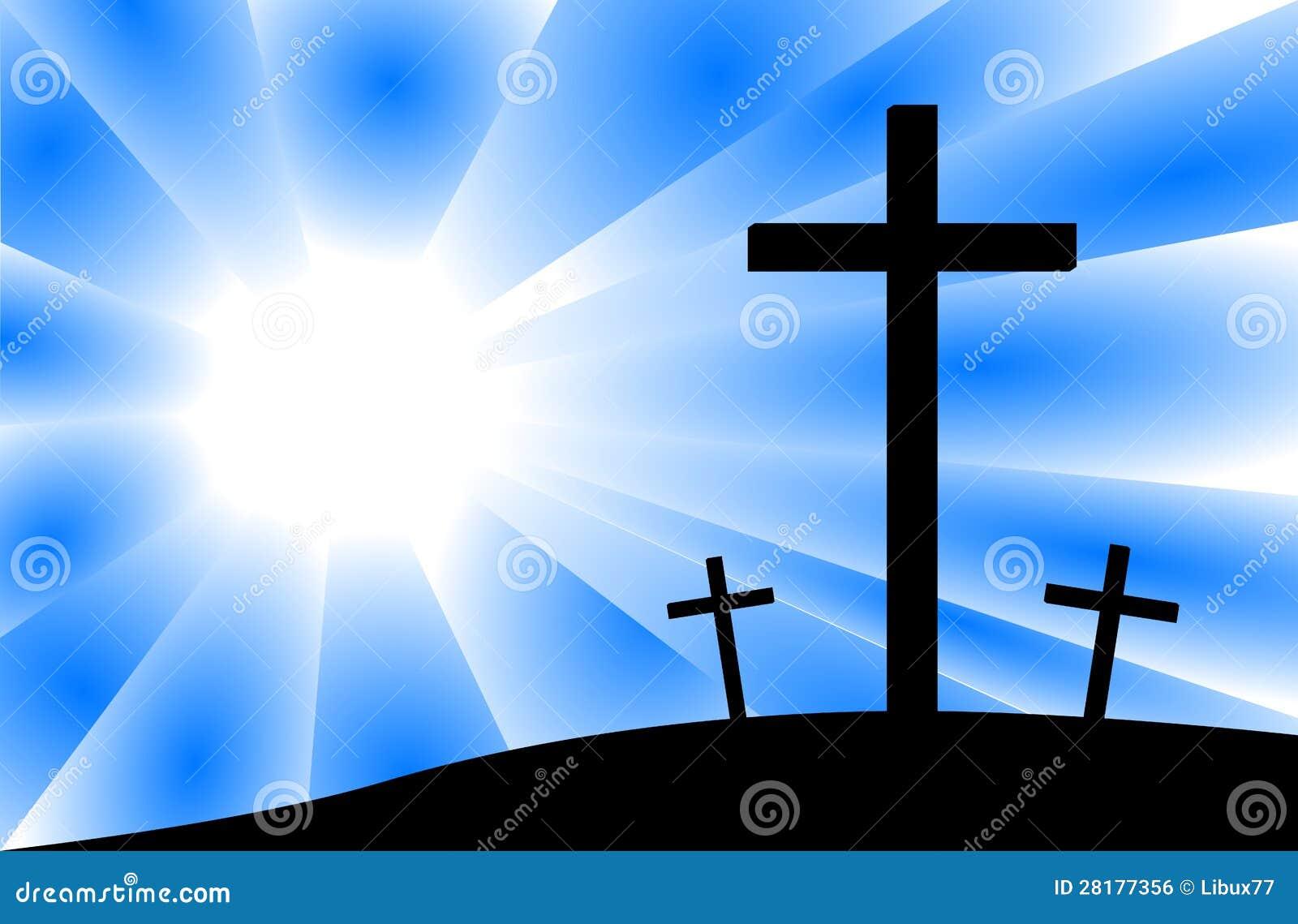 Crucifixión de Jesús - cruces de la escena tres del Calvary