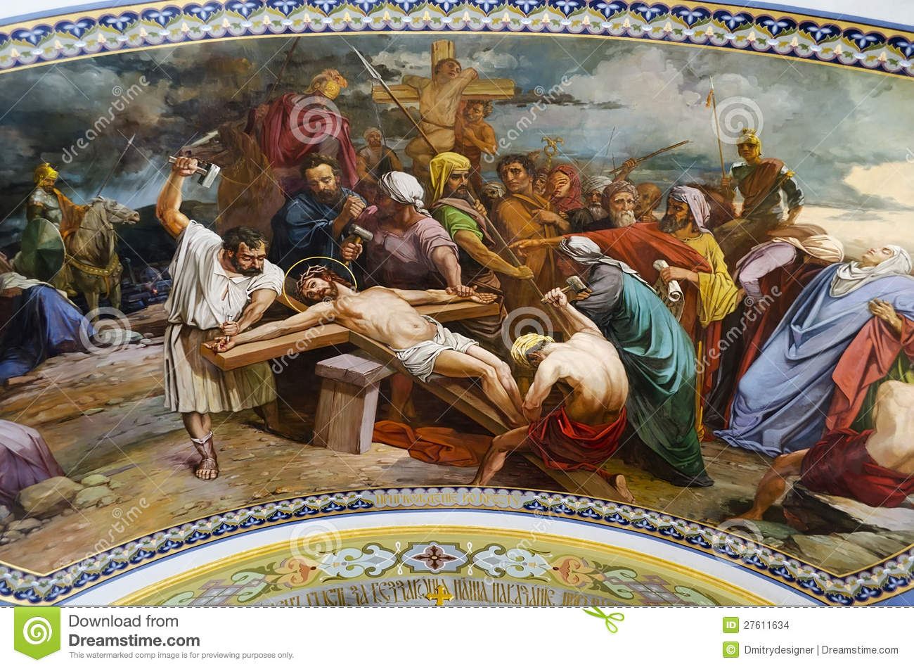 crucifixion of jesus christ stock images image 27611634