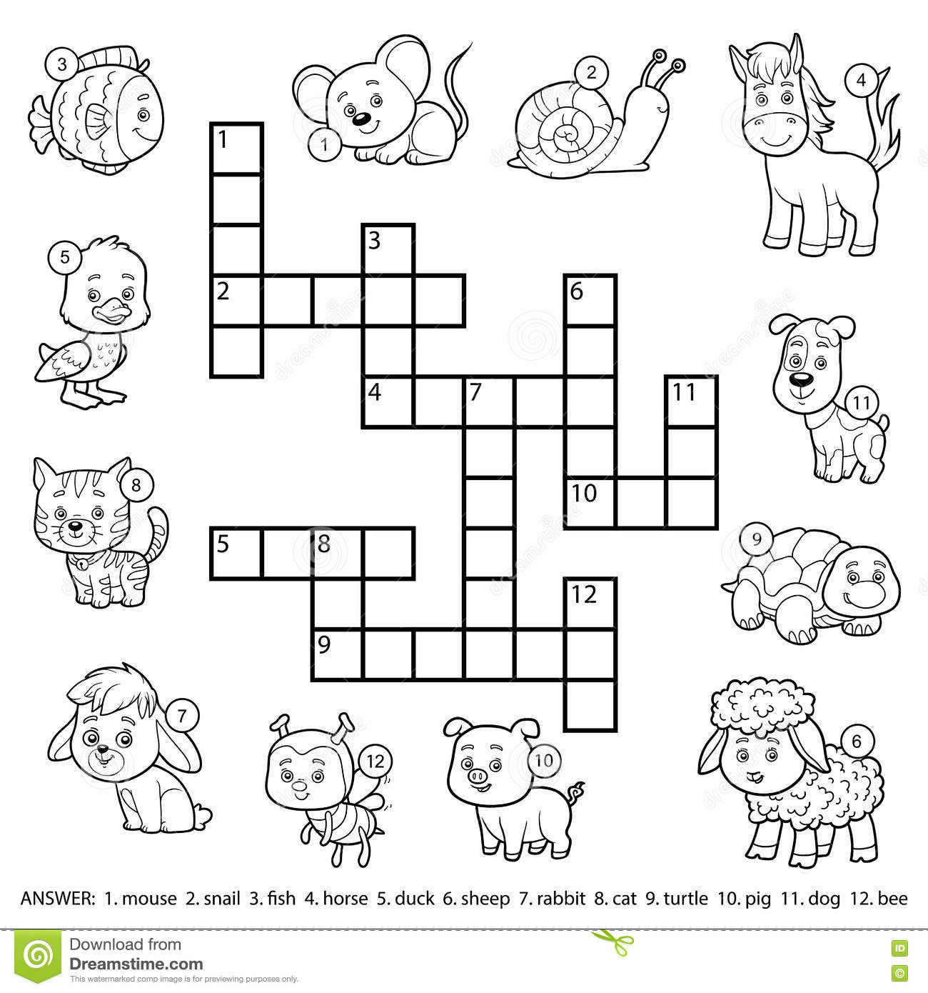 Clothes vocabulary crossword pdf