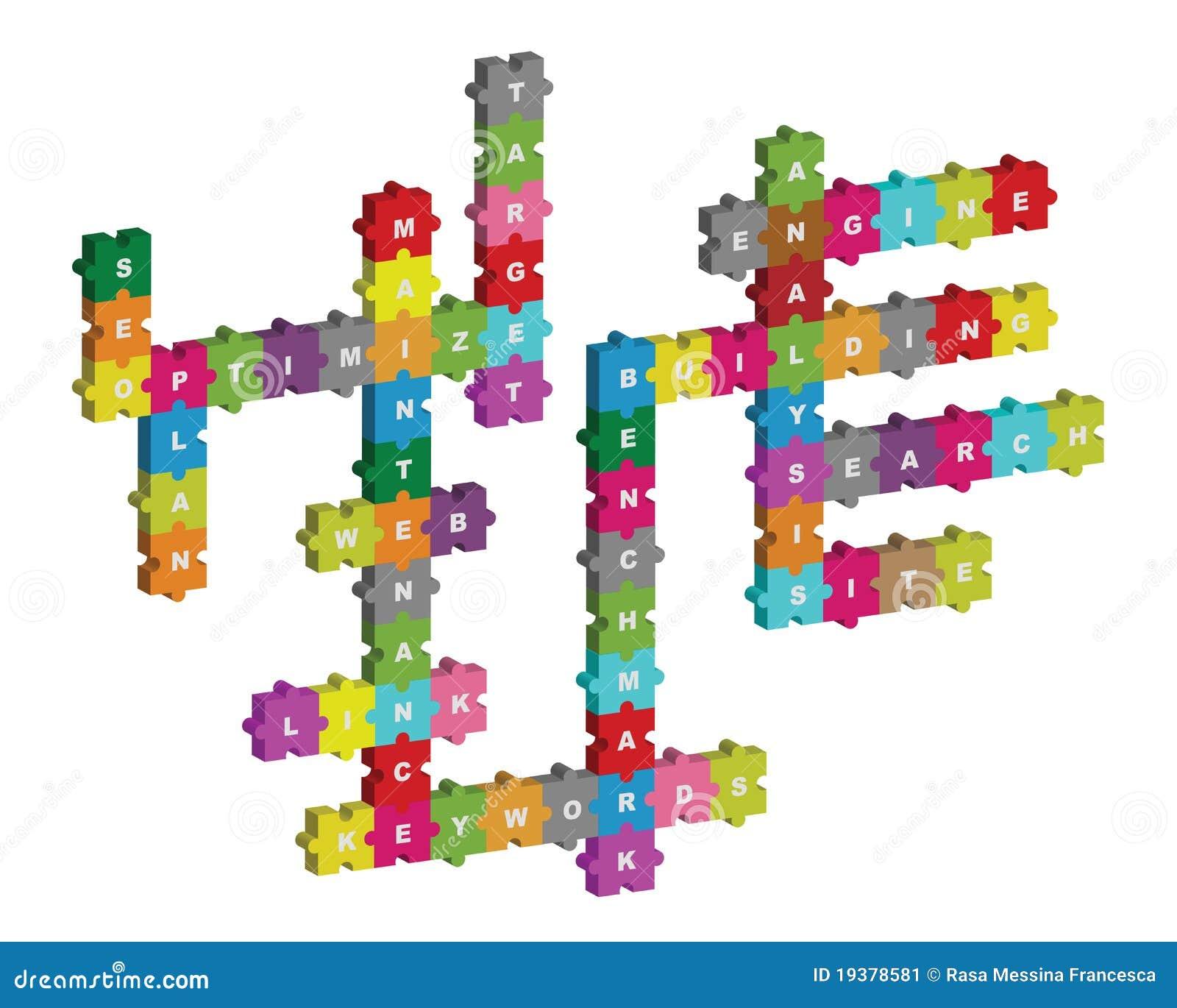 Crucigrama del rompecabezas de Seo