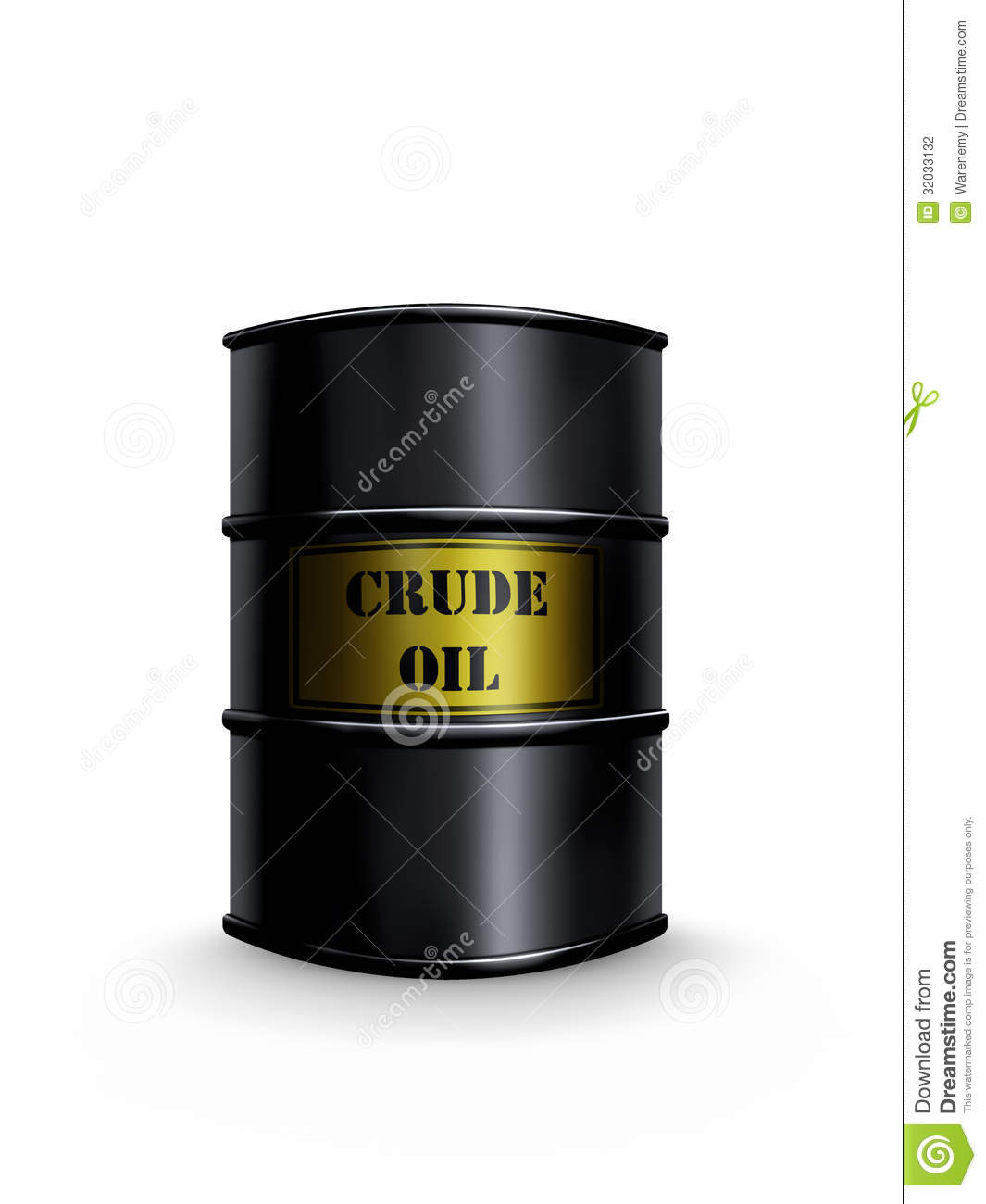 Crude Oil Barrel Stock Photography - Image: 32033132