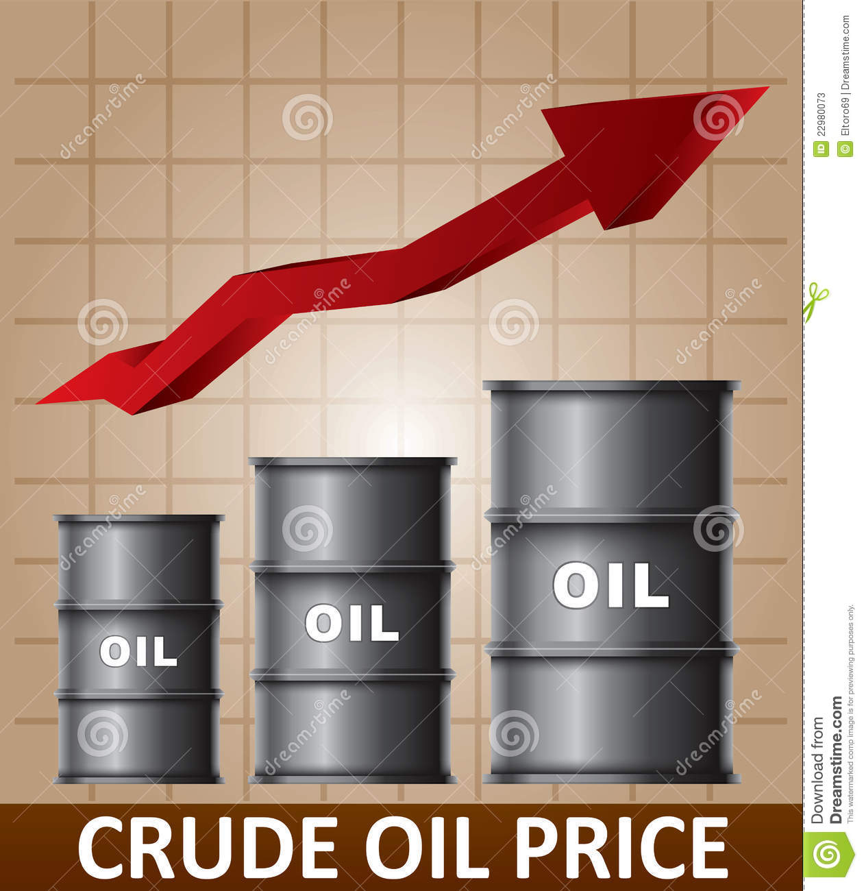 Oil Stock Quote: Crude Oil Price Rise Stock Vector. Image Of Work, Fuel