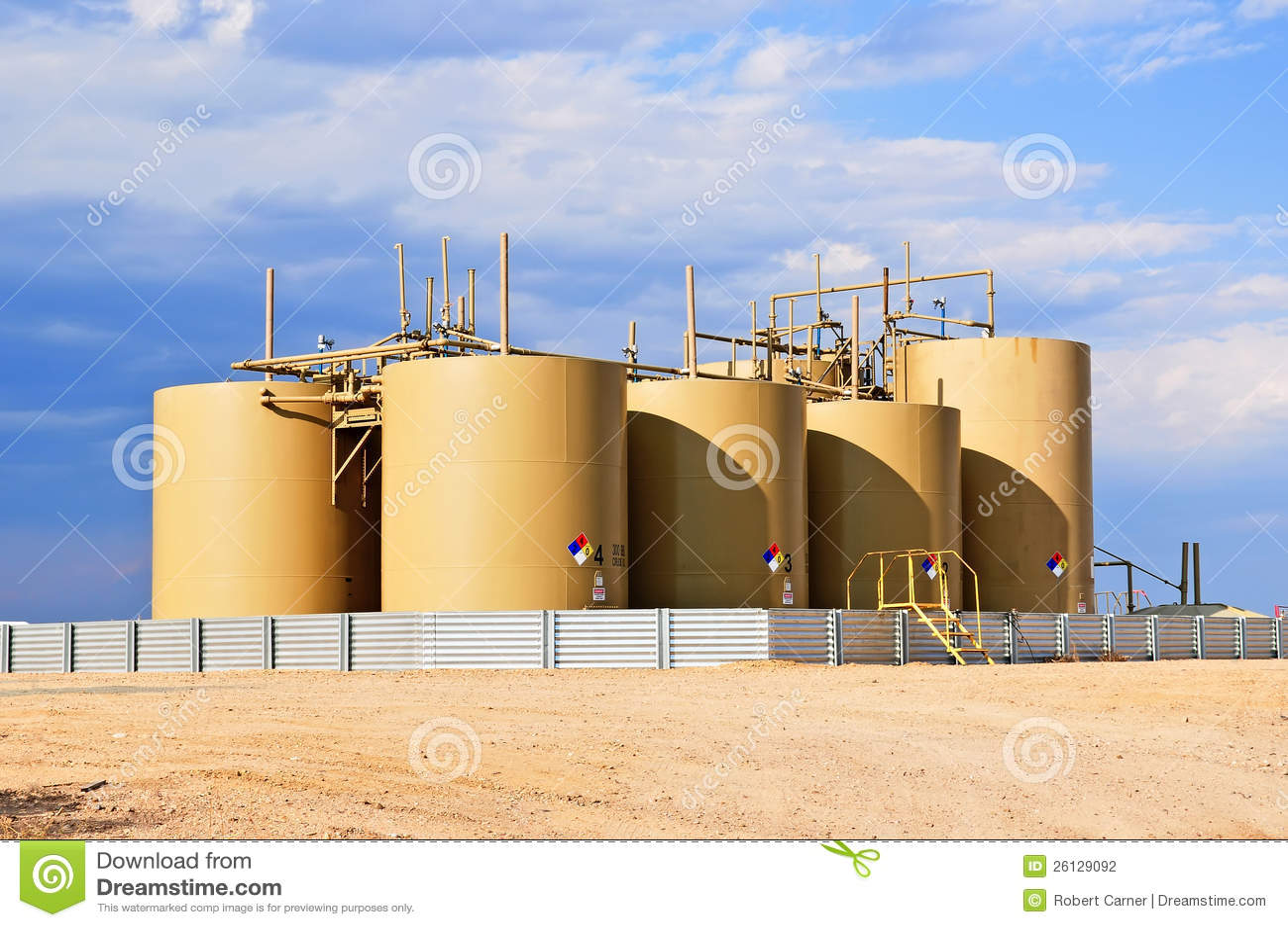 Crude Oil Storage Tanks in Central Colorado, USA