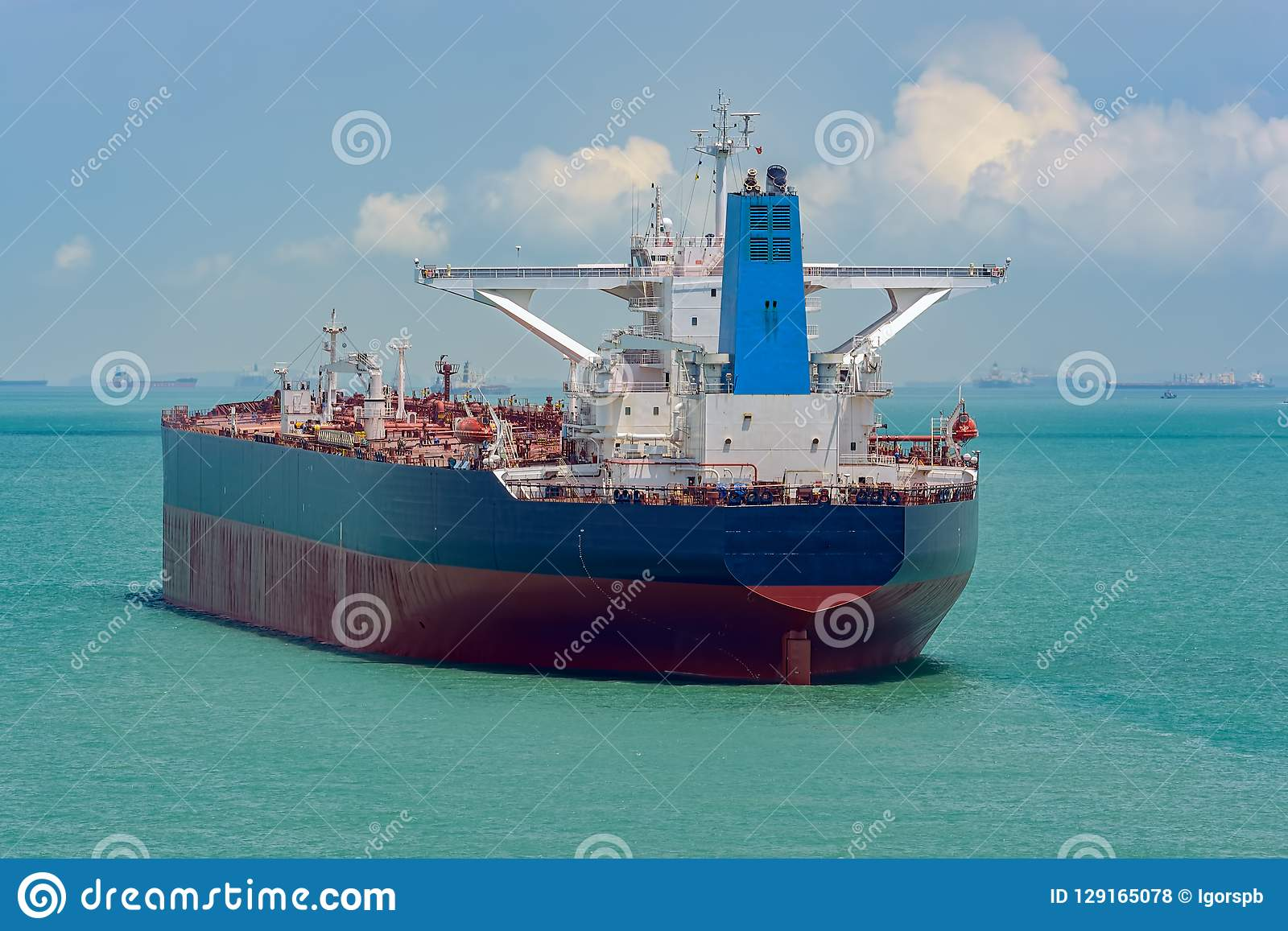 Crude Oil Tanker In Singapore Strait Stock Photo - Image of boat