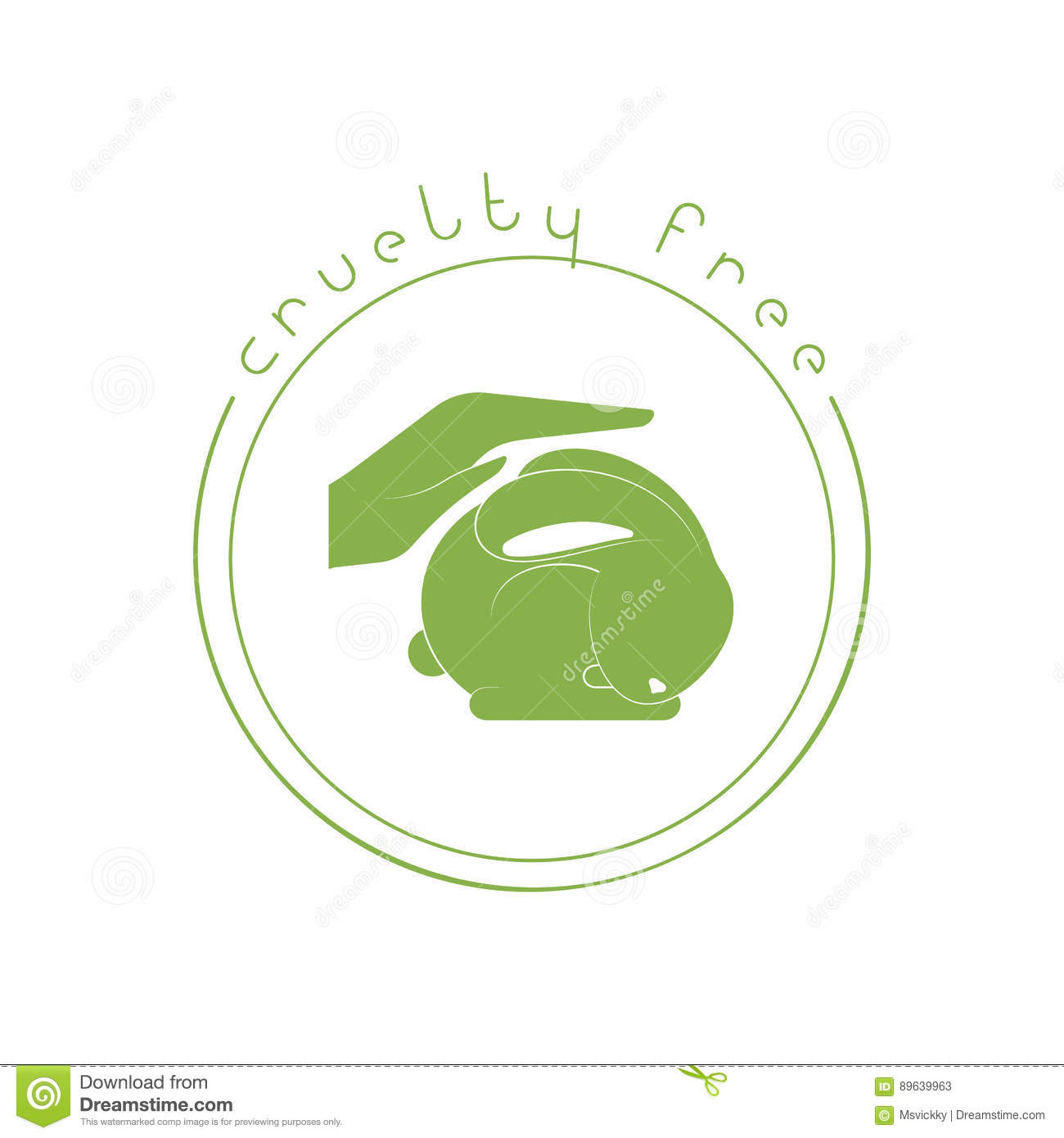 Animal Cruelty Free Concept Stock Vector Illustration Of Animal
