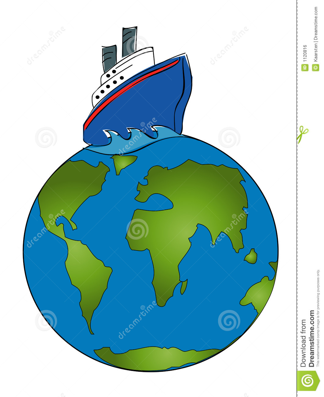 Cruise Around The World Royalty Free Stock Image - Image: 1120816