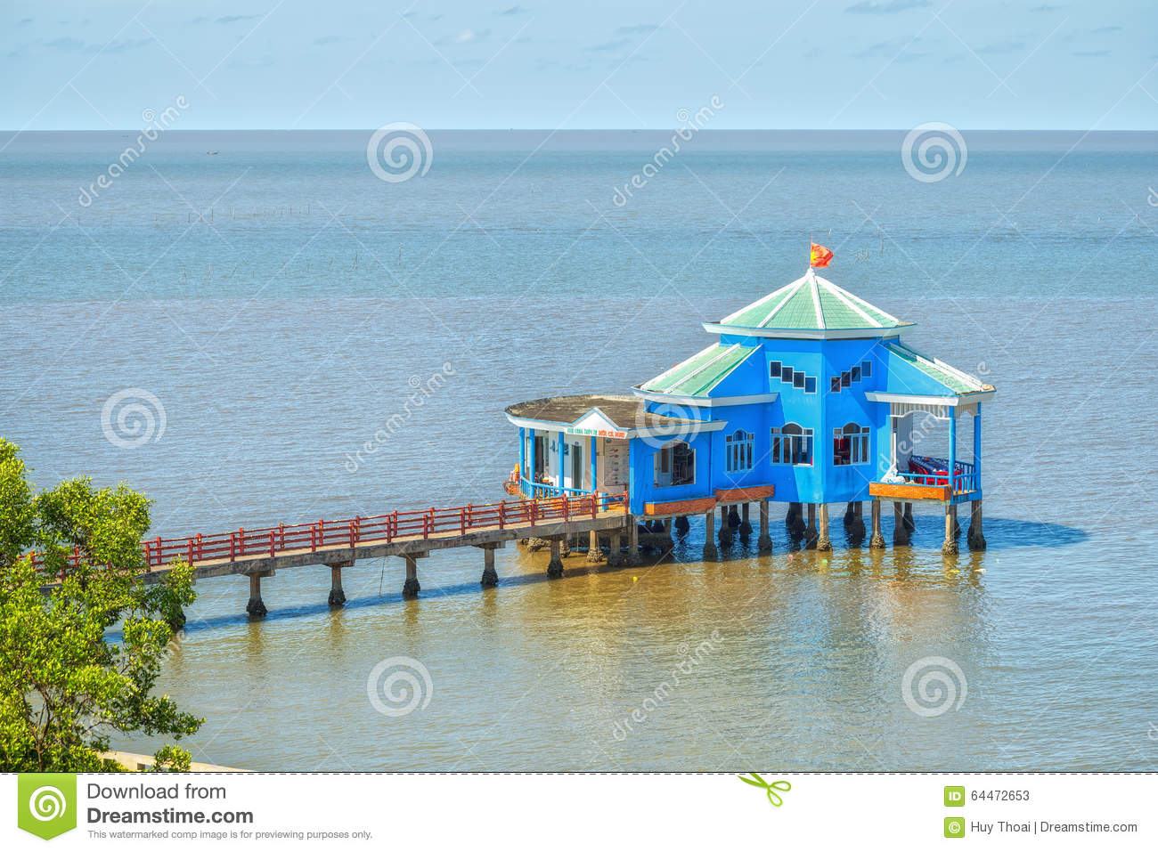 Ca Mau Vietnam  city photos gallery : Ca Mau, Vietnam April 7th, 2015: Floating restaurant on the bay with ...
