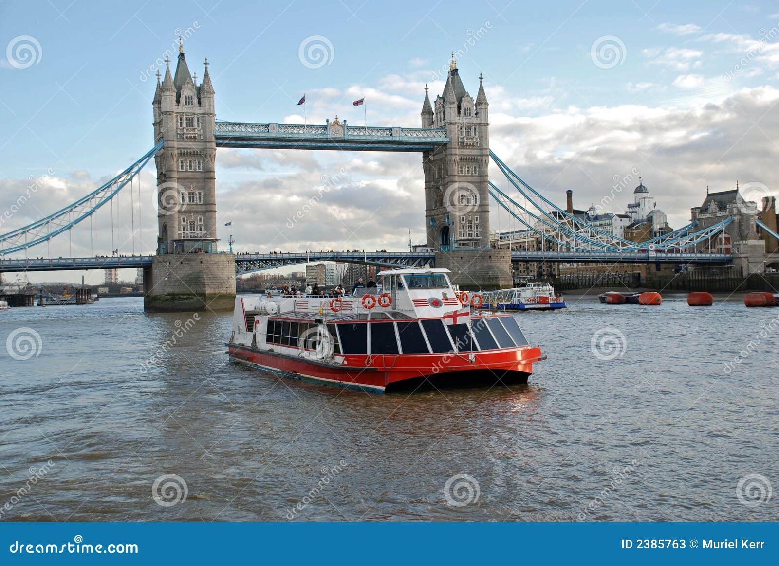 Cruise Boat And Tower Bridge Stock Image - Image: 2385763