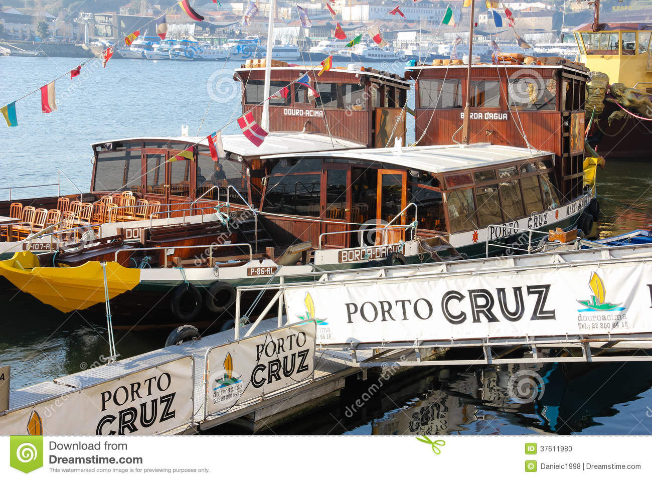 Cruise boats docked. Porto. Portugal
