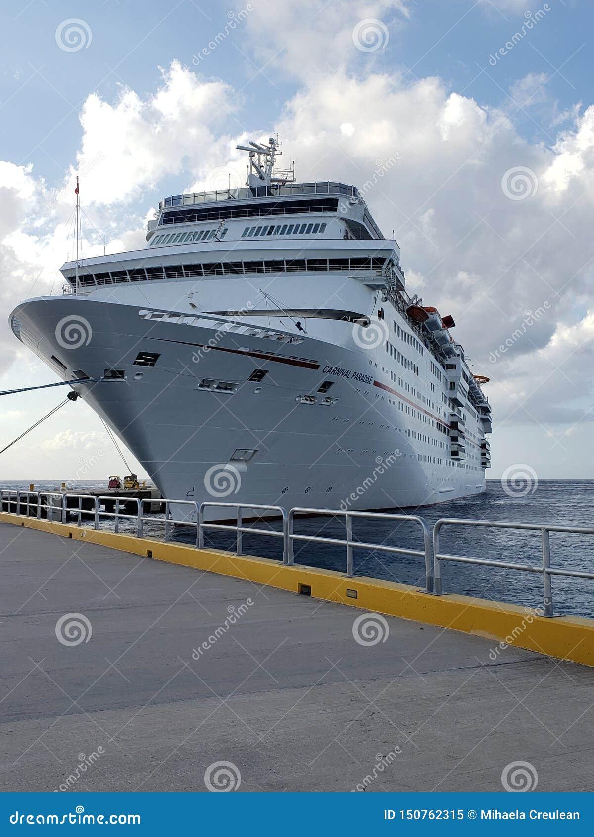 Cruise Carnival Paradise Cuzumel Mexico Editorial Image