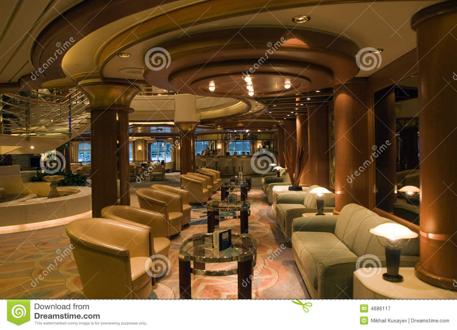 Cruise Interior Stock Image Image Of Modern Interior