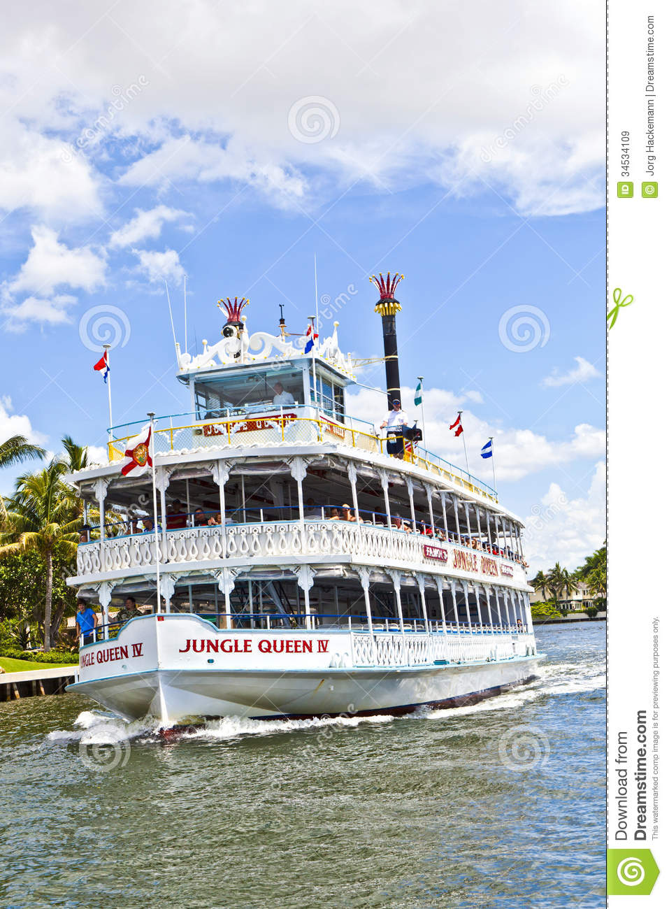 Cruise With Jungle Queen Riverboat Editorial Stock Image