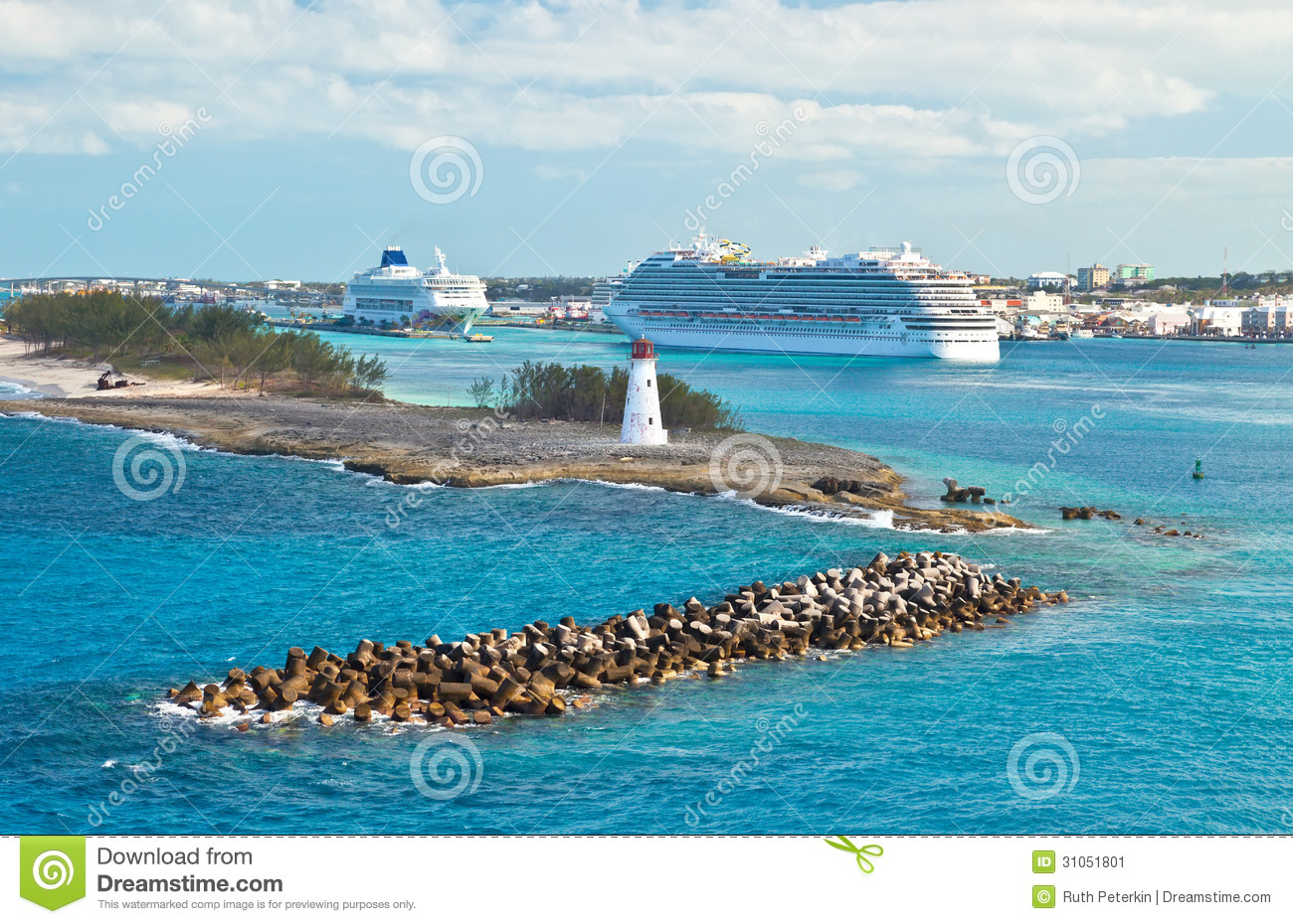 Cruise port stock image image of lighthouse beach harbor 31051801 - Cruise port nassau bahamas ...