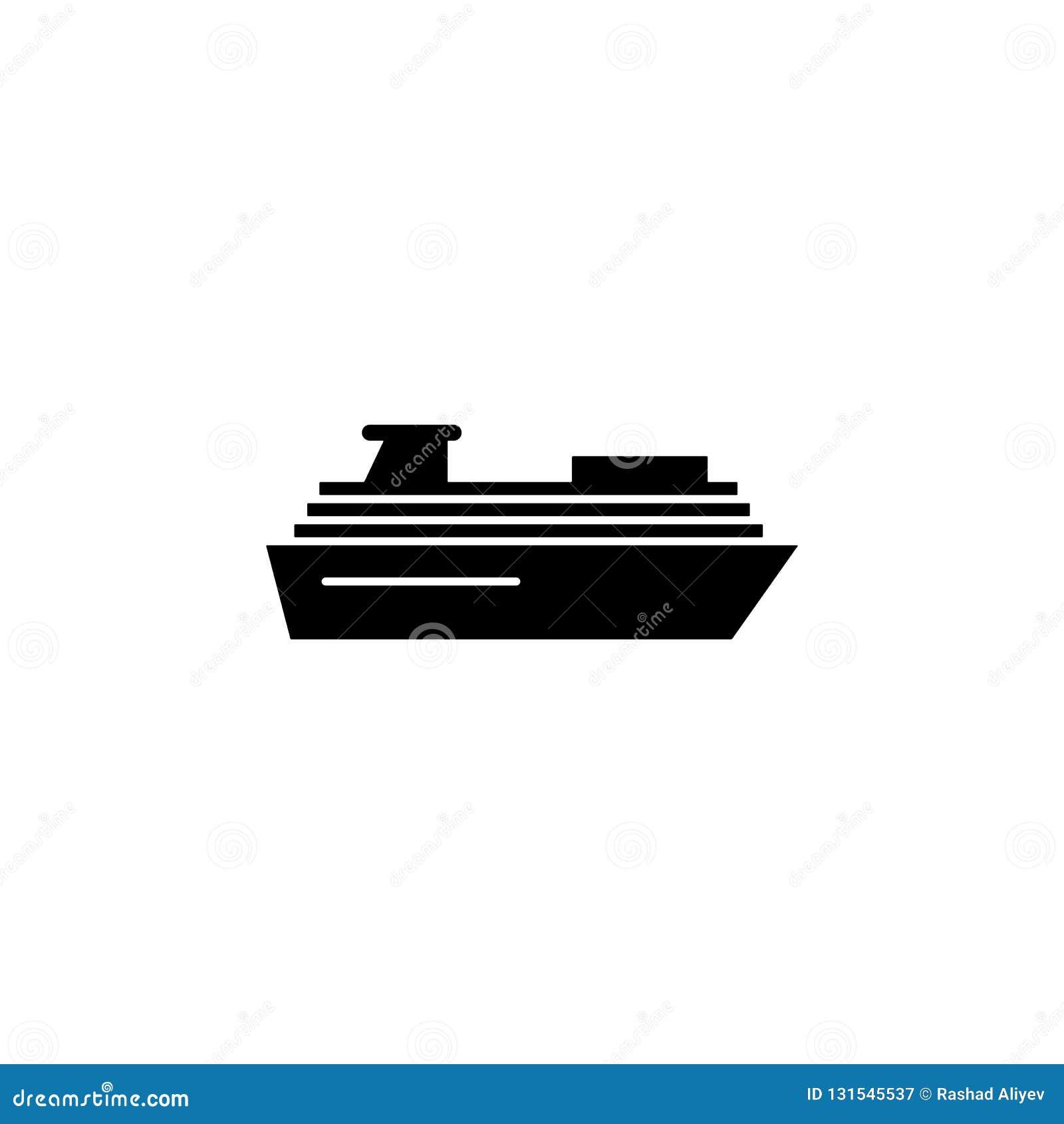 Cruise, schippictogram Element van het pictogram van het watervervoer voor mobiele concept en webtoepassingen De gedetailleerde c