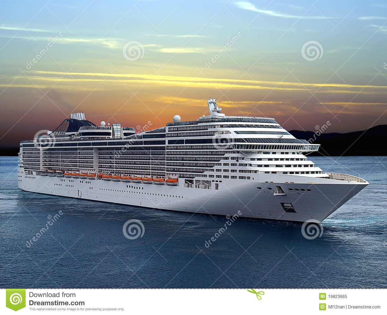 Download Cruise ship stock image. Image of tour, tourism, summer - 19823665