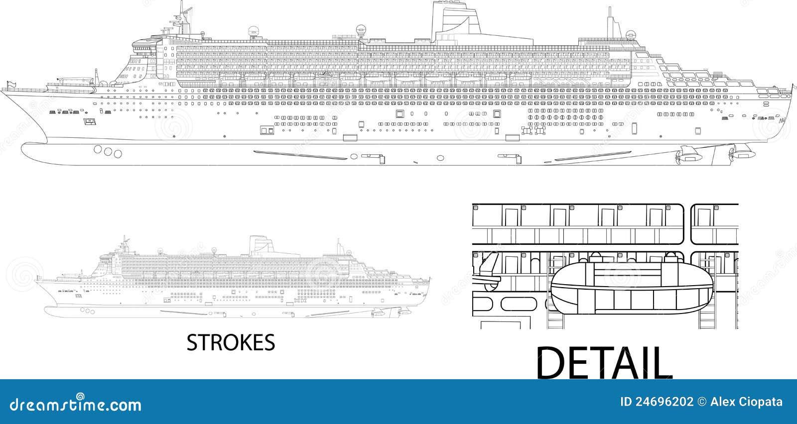 Cruise Ship Stock Vector Illustration Of Design Paradise 24696202
