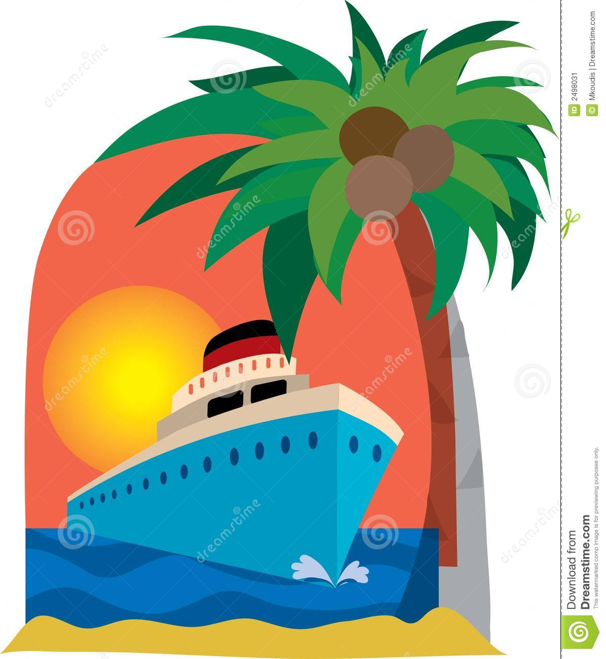 Cruise ship stock vector. Image of boat, ocean, vessel - 2498031