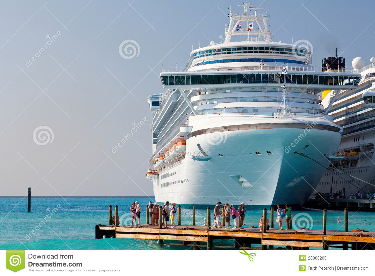 Cruise Ship Anchored In Grand Turk Caicos Islands Editorial Stock - Turks and caicos cruise ship schedule