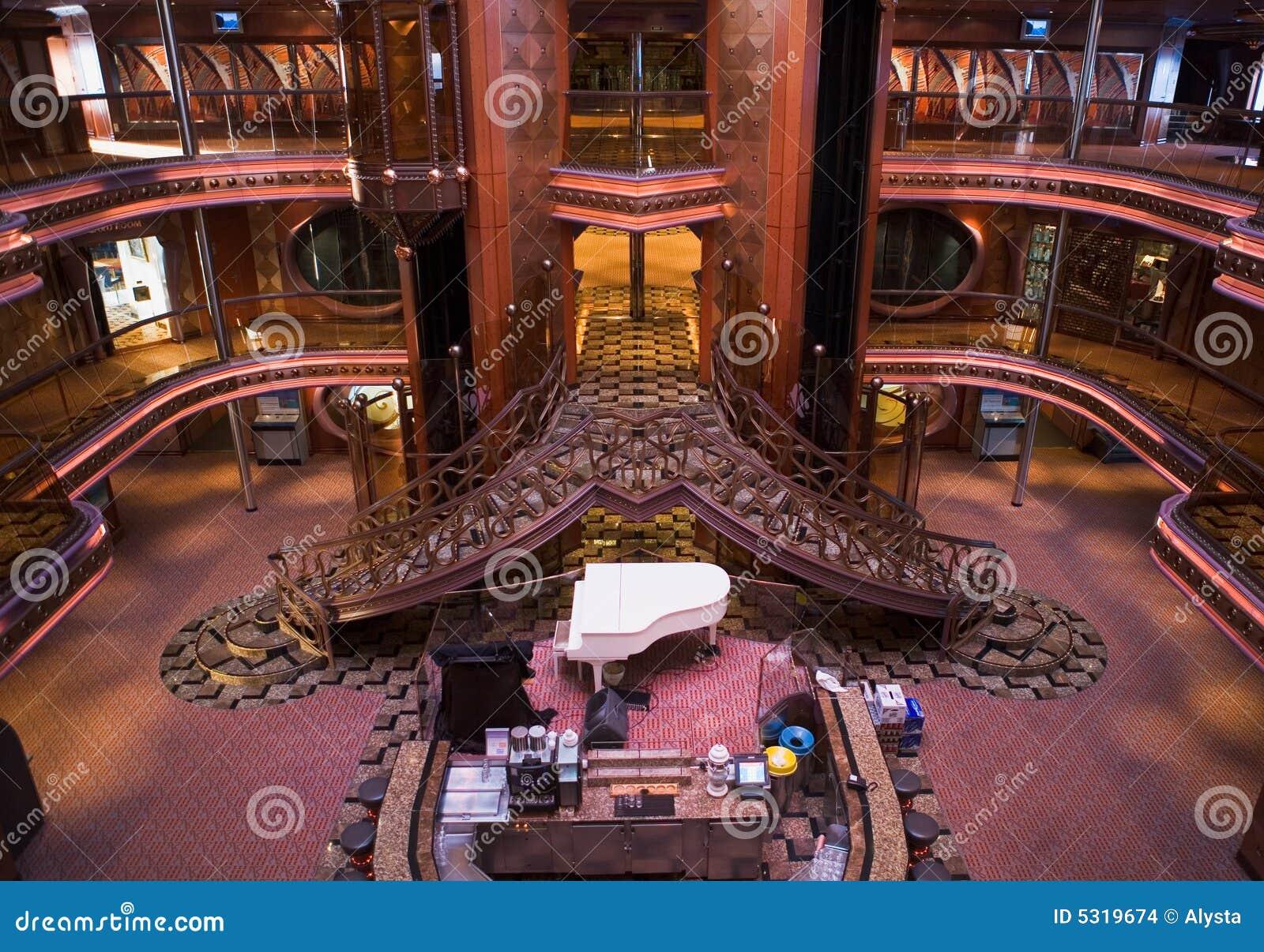 Cruise Ship Atrium Stock Images Image 5319674