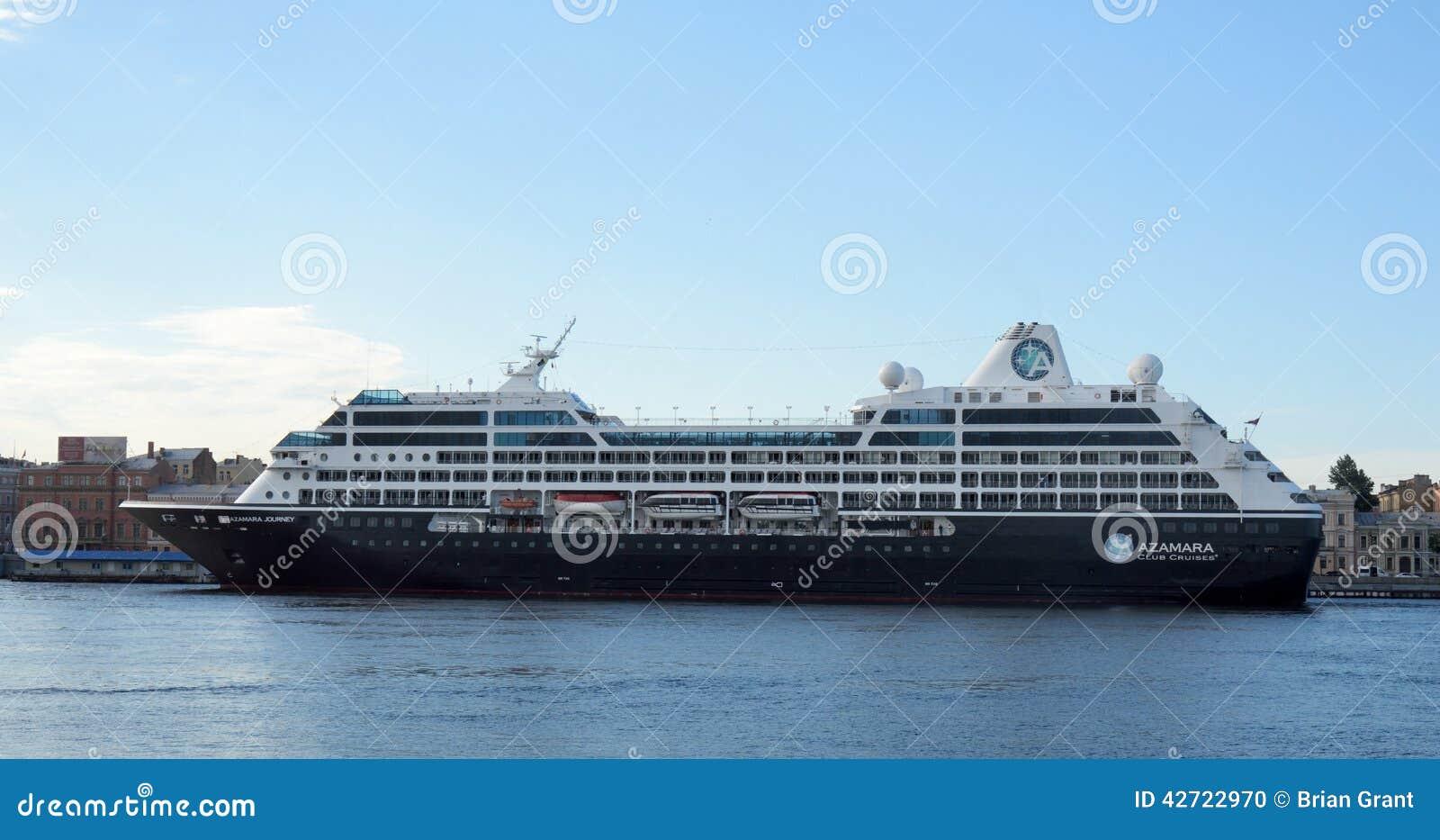 Cruise Ship Azamara Journey In St Petersburg Editorial
