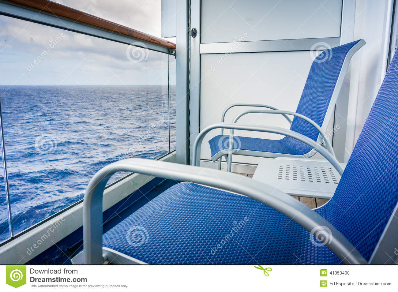 Cruise ship balcony stock photo image 41053400 for Balcony on cruise ship
