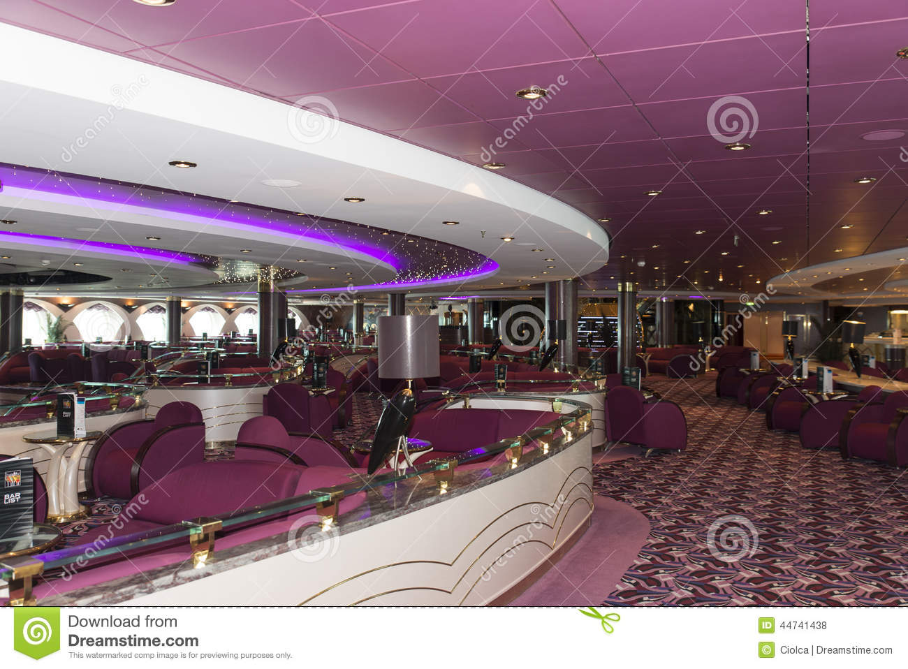cruise ship bar interior editorial stock photo image 44741438. Black Bedroom Furniture Sets. Home Design Ideas