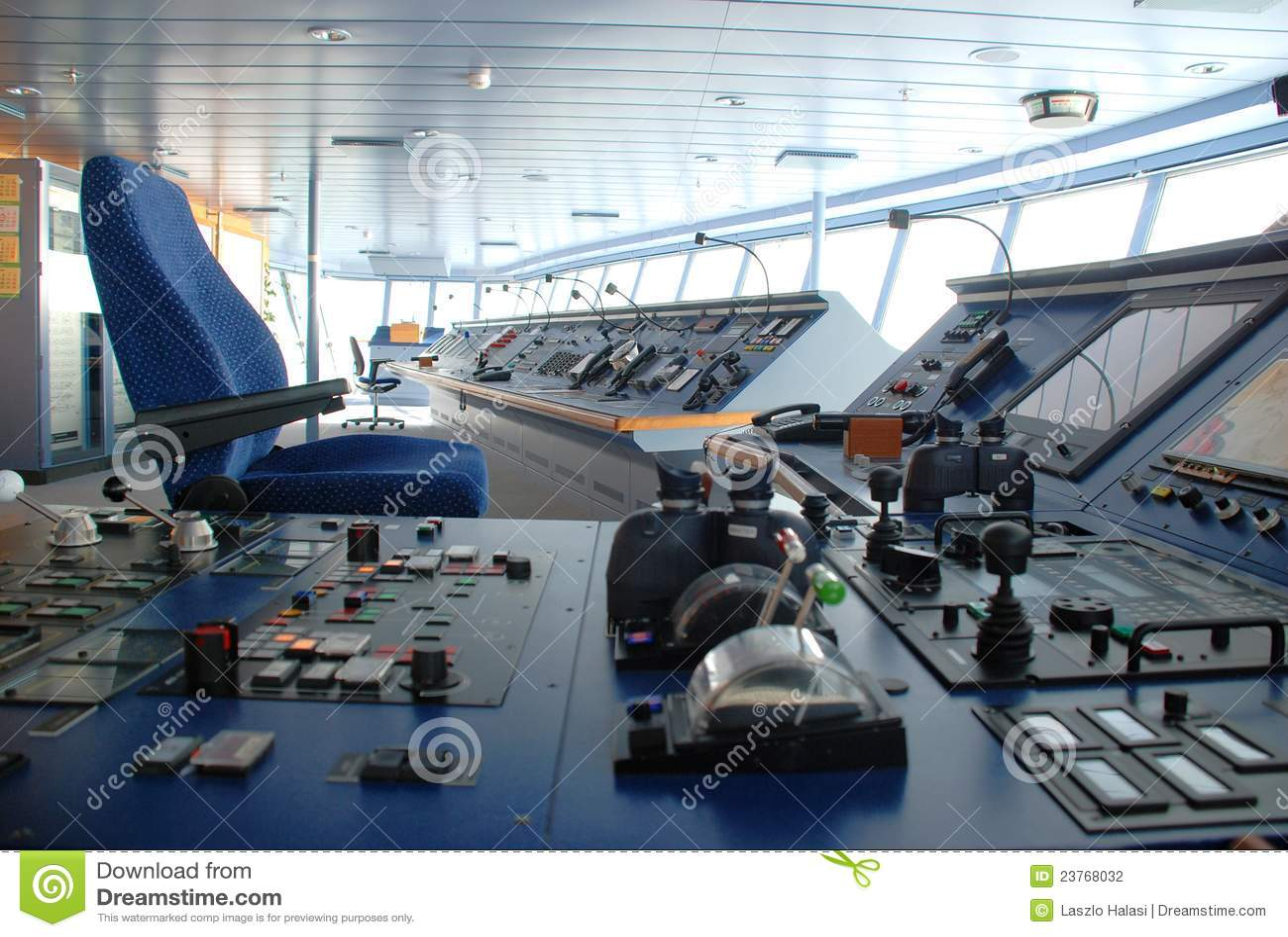 Cruise Ship Bridge Inside Stock Illustration Illustration Of - Cruise ship controls