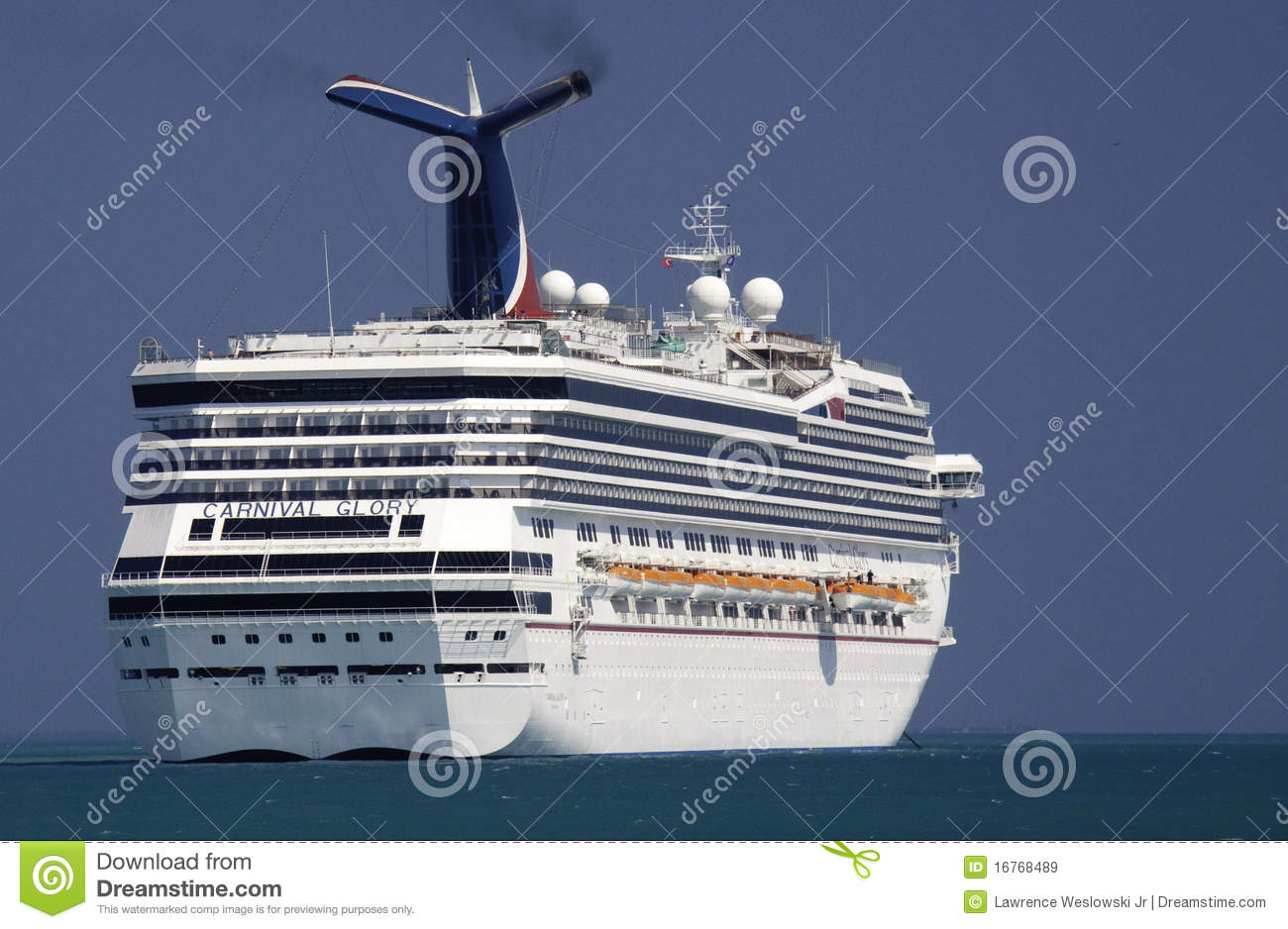 Cruise Ship Carnival Glory In Belize Editorial Stock