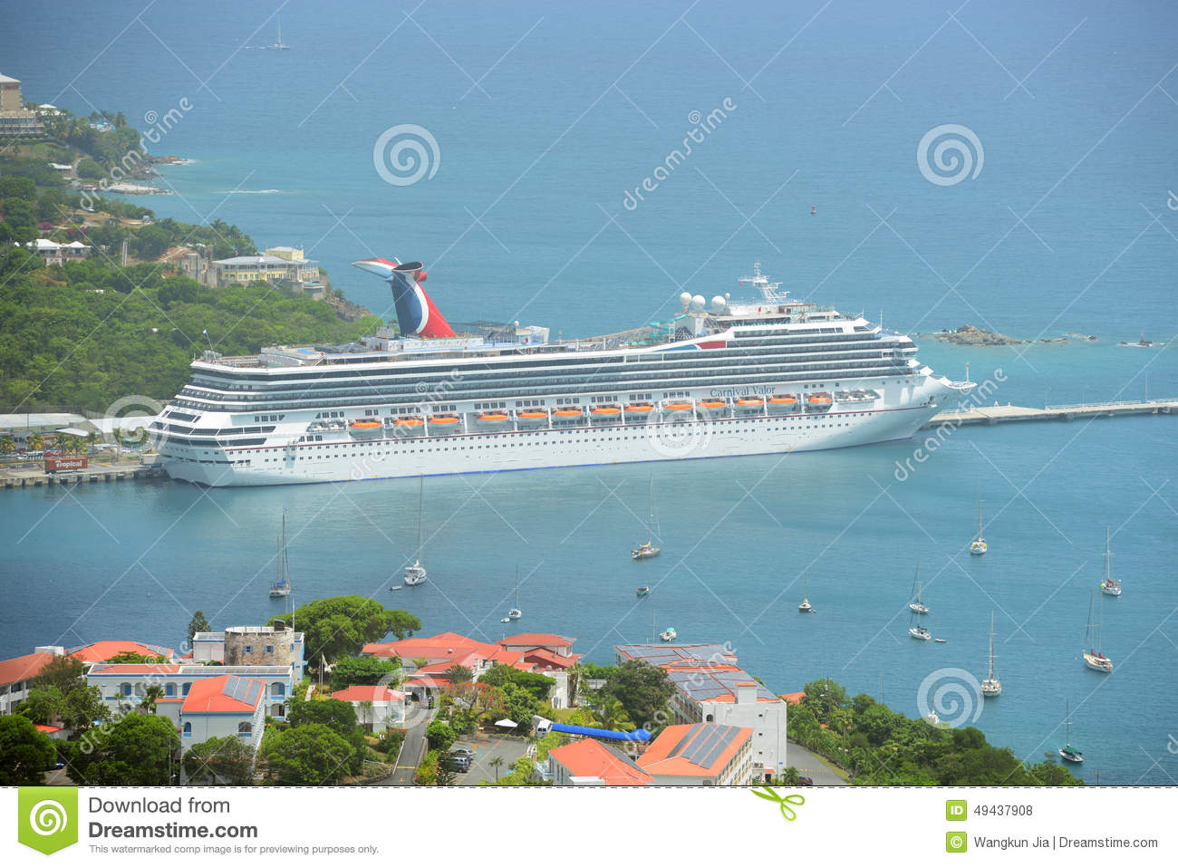 Cruise Ship Carnival Valor In Saint Thomas Editorial Stock Photo ...