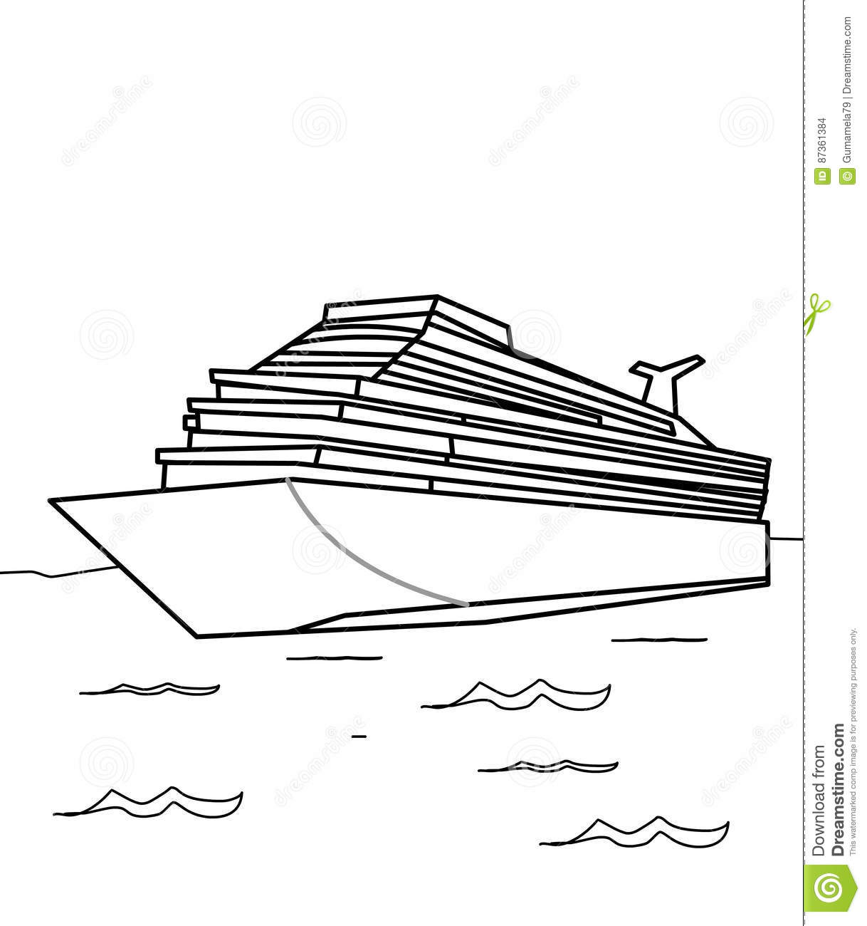 Cruise ship coloring page stock illustration illustration for Cruise ship coloring page