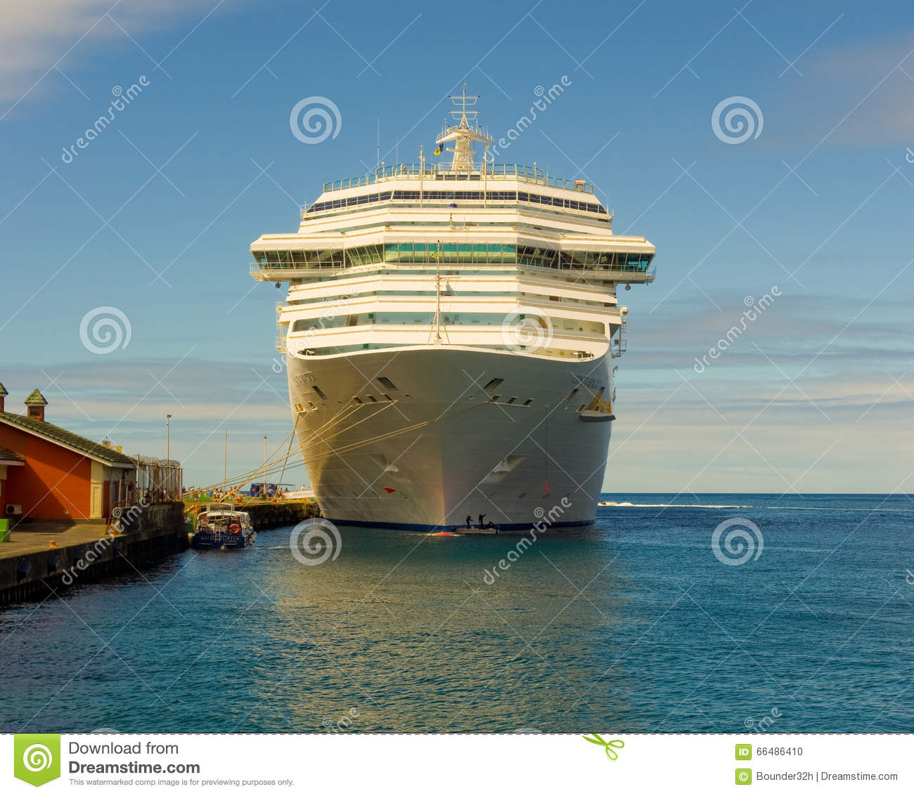 The Cruise Ship Costa Magica Calling At Kingstown Port In