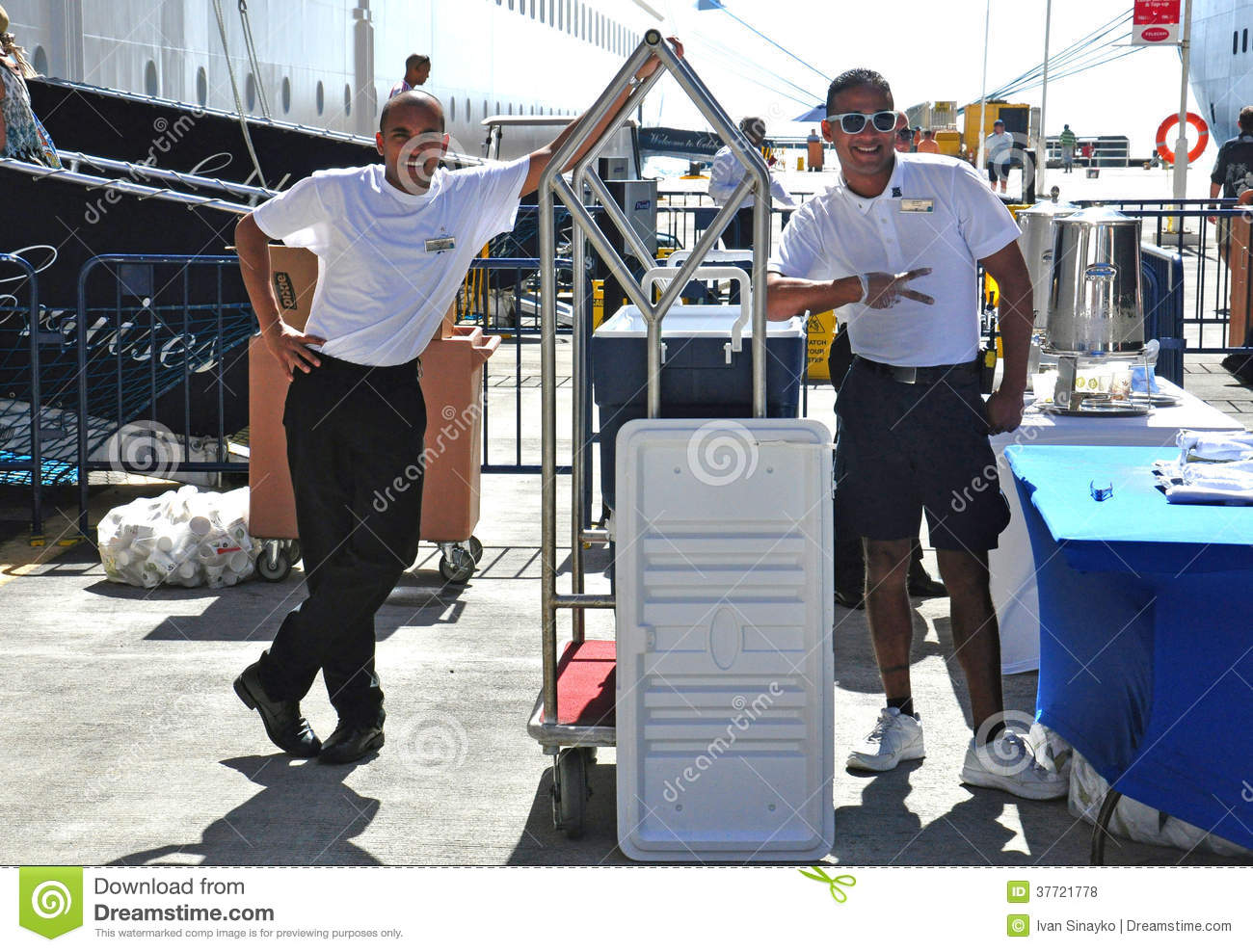 Cruise Ship Crew Editorial Stock Photo - Image 37721778