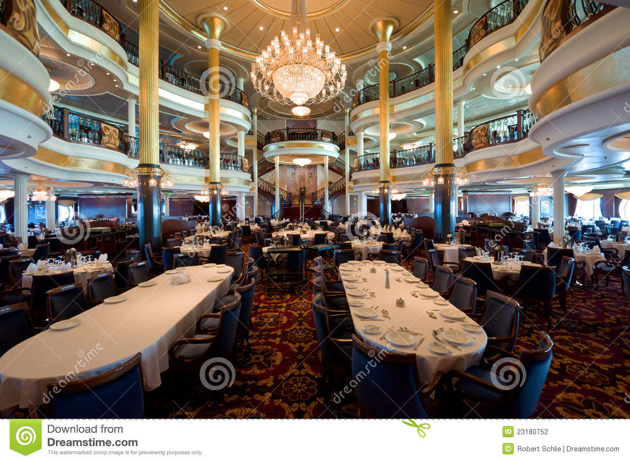 Cruise Ship Dining Room Stock Photography Image 23180752