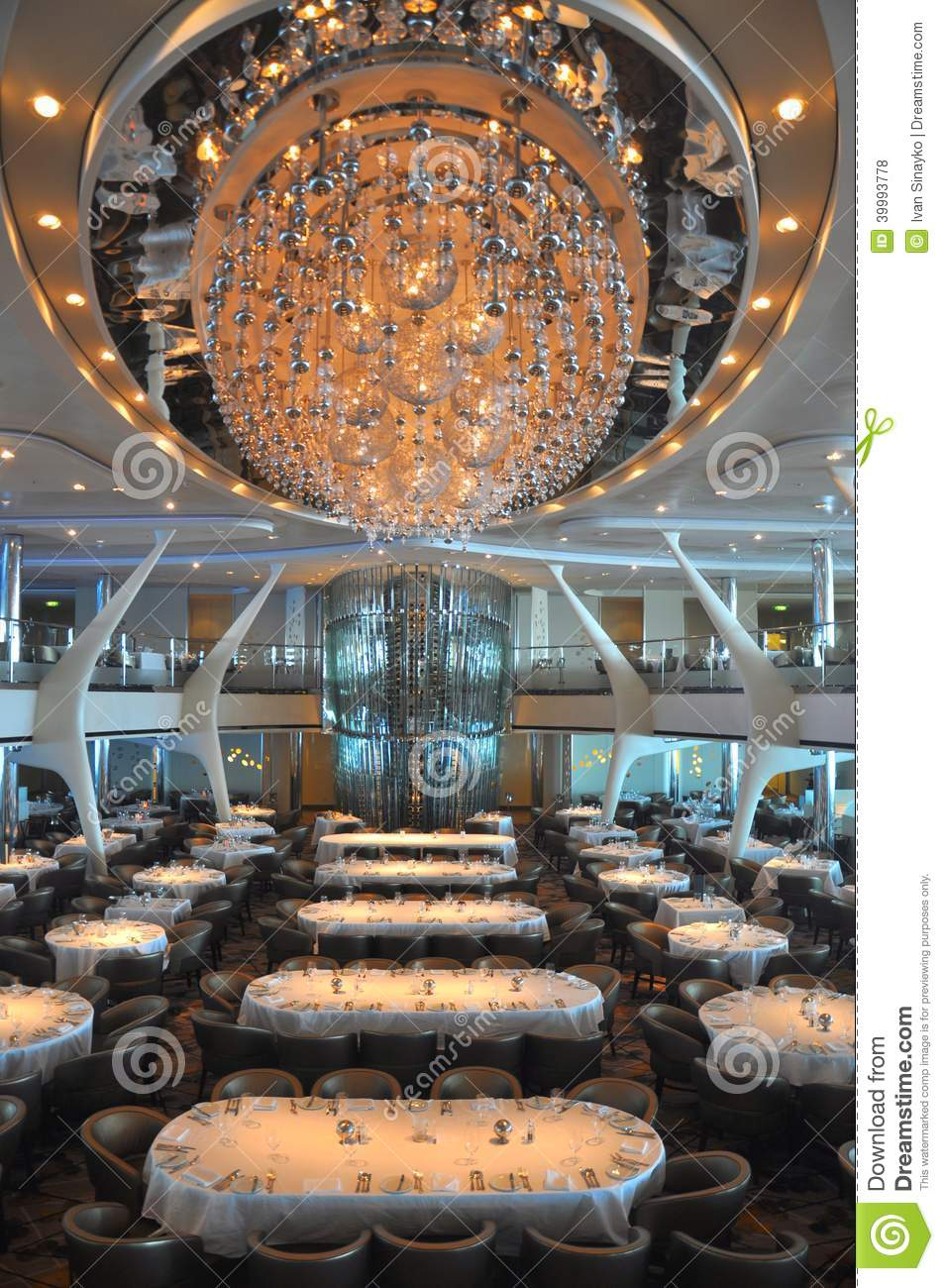 Oasis Of The Seas Engine Room: Cruise Ship Dining Room Editorial Stock Photo