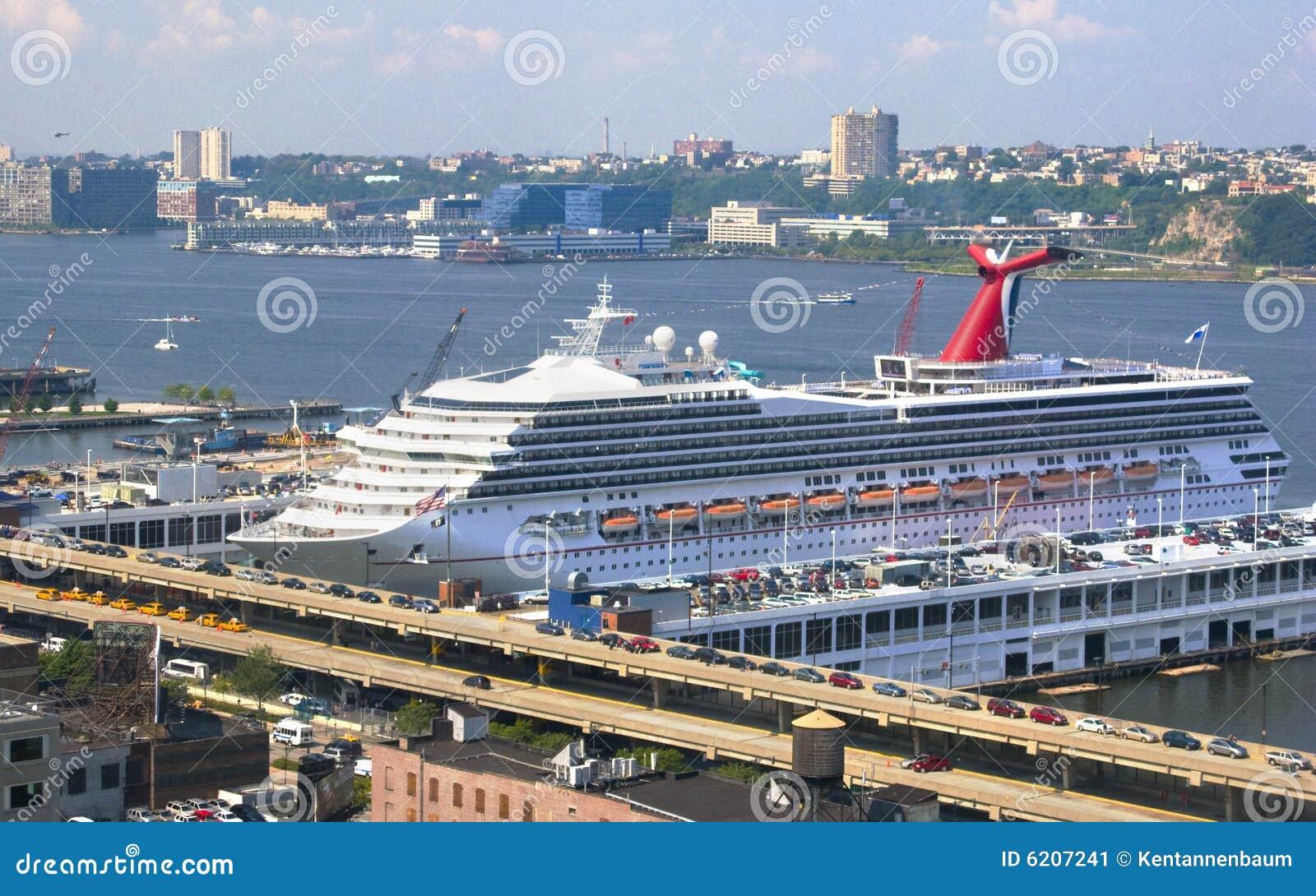Cruise Ship Docked In New York City Port Stock Image - Image 6207241